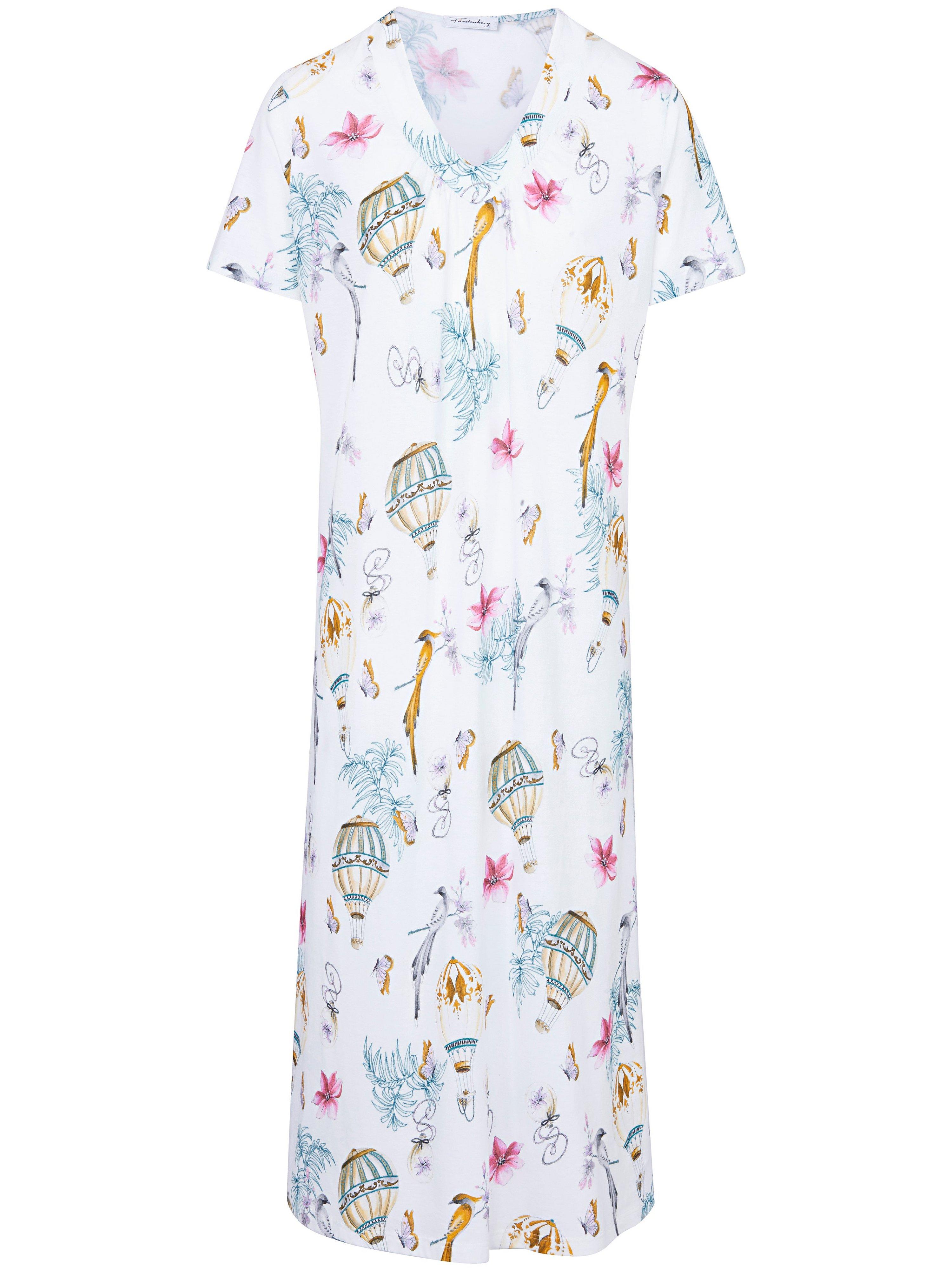 La chemise nuit 100% coton  Fürstenberg multicolore taille 42