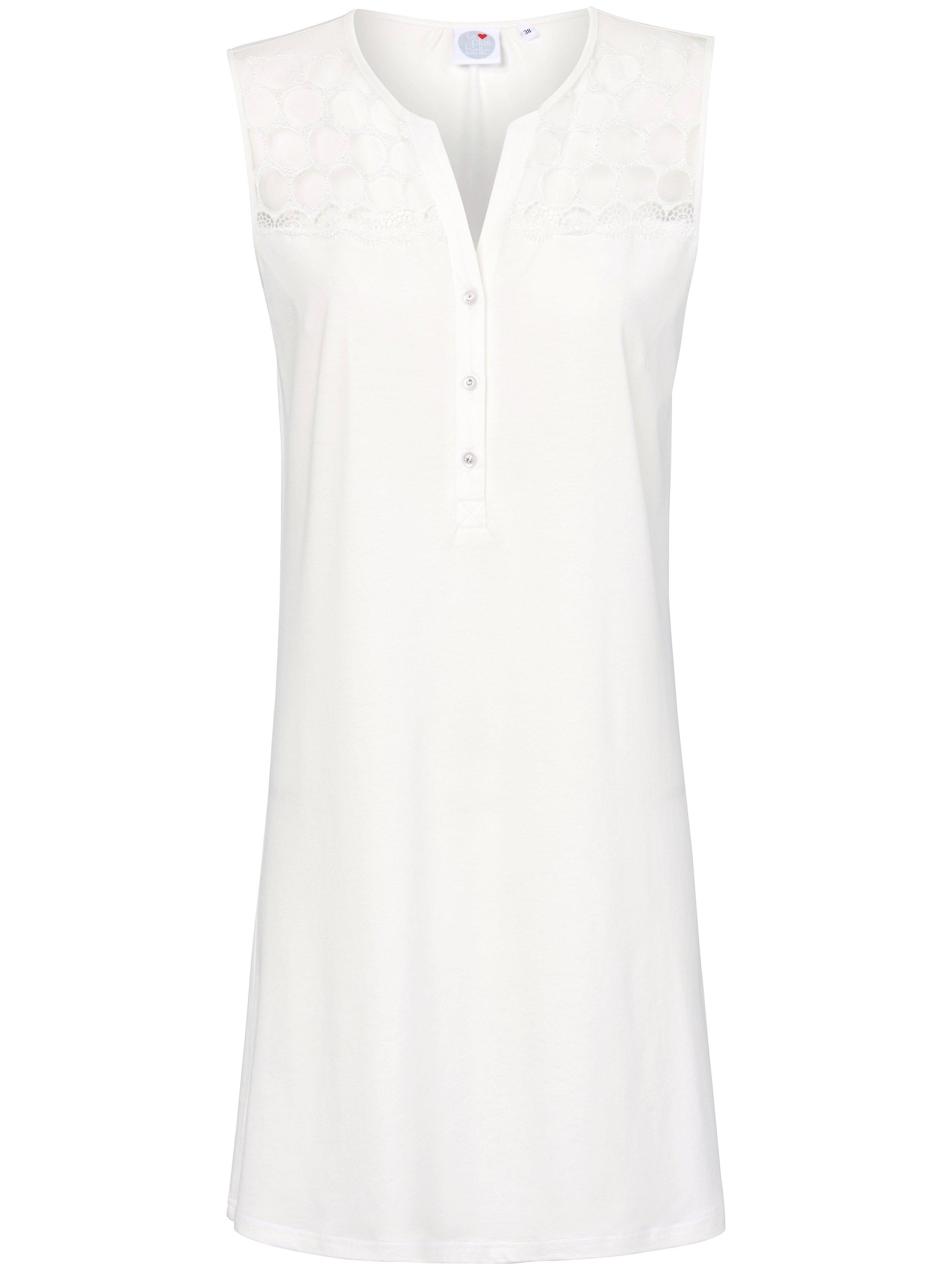 La chemise nuit sans manches  La plus belle beige taille 48