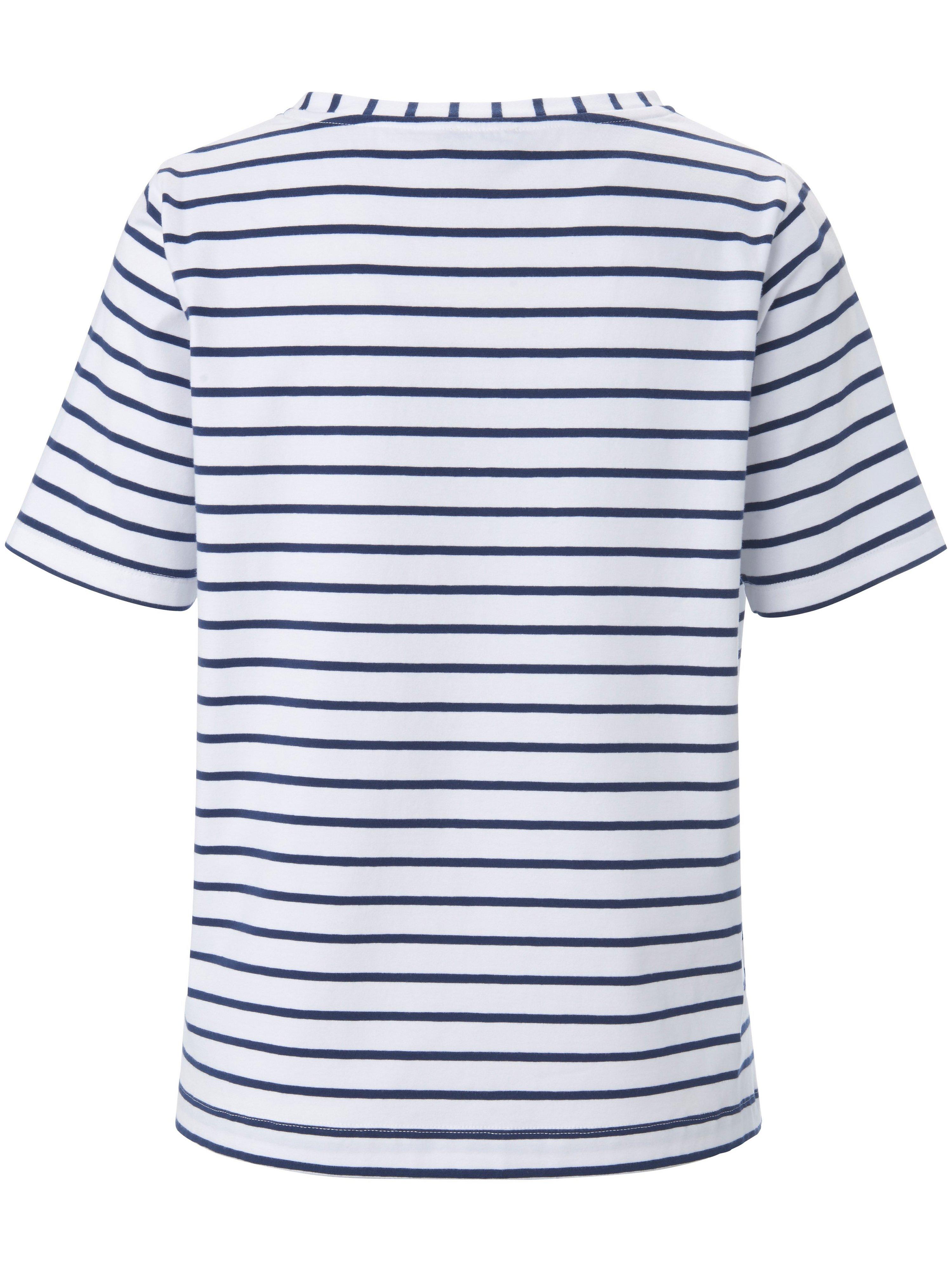 T-shirt rund hals Fra PETER HAHN PURE EDITION blå