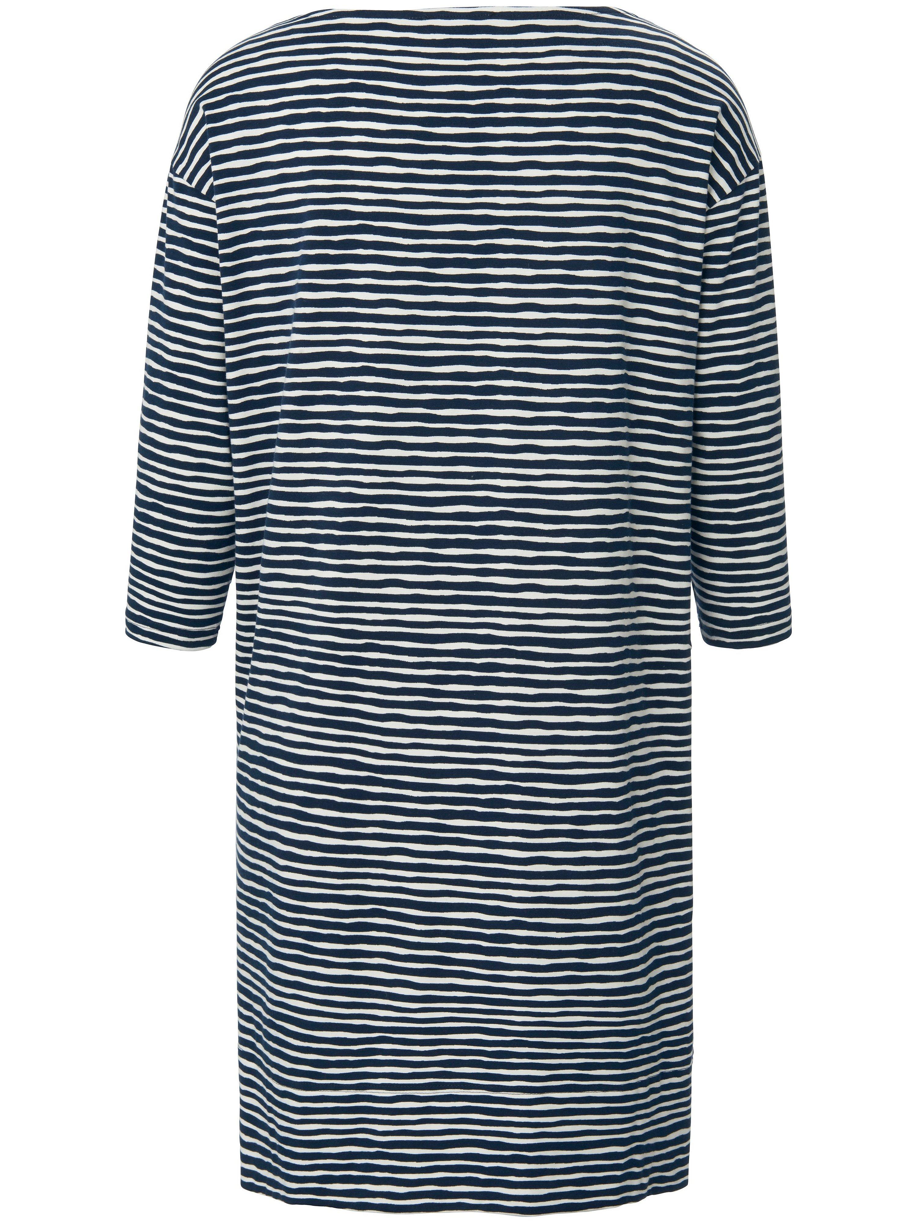 Sleepshirt 3/4-ærmer og overskårne skuldre Fra Mey blå