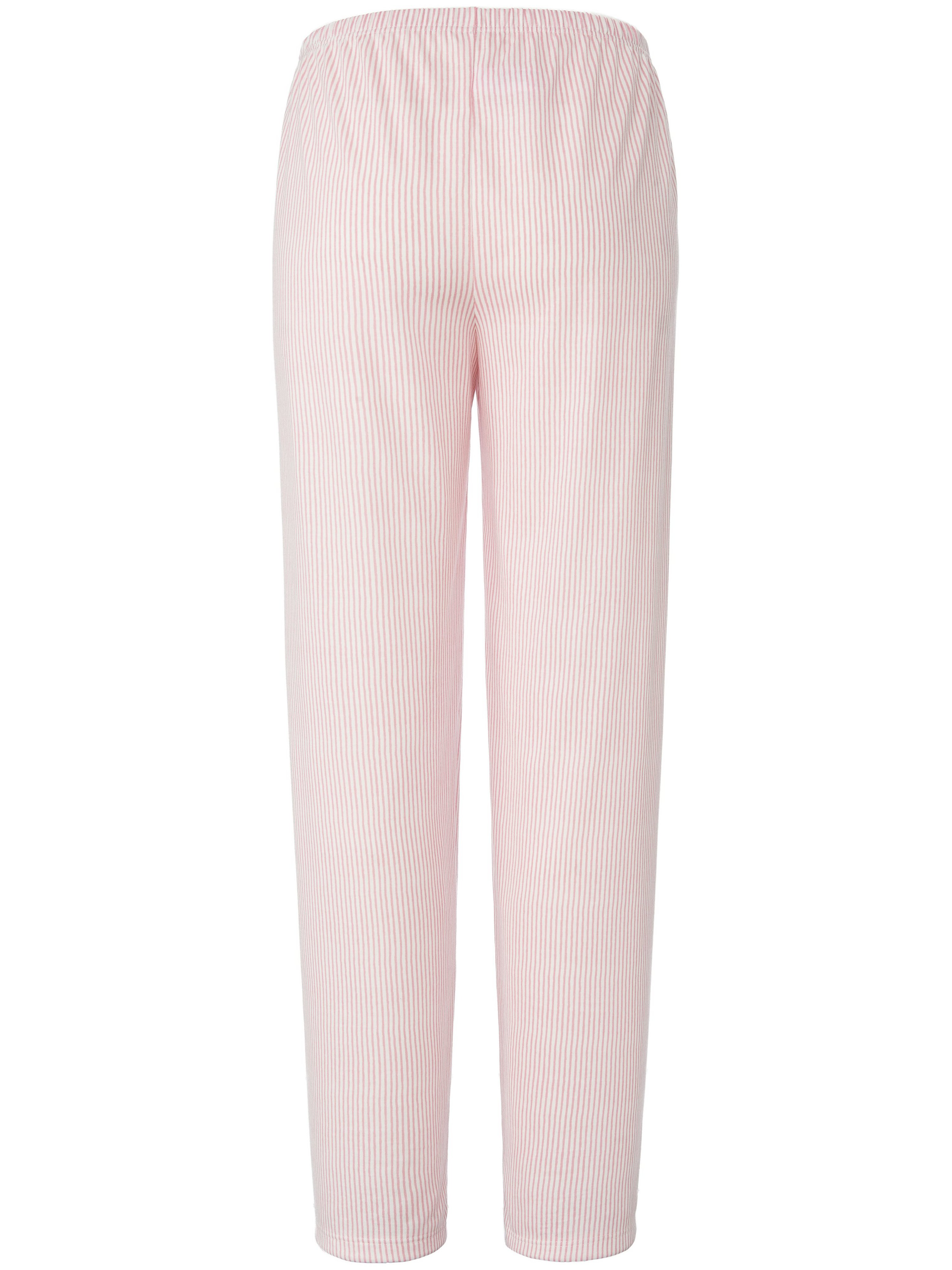 Lang pyjamasbuks 100 bomuld Fra PETER HAHN PURE EDITION hvid