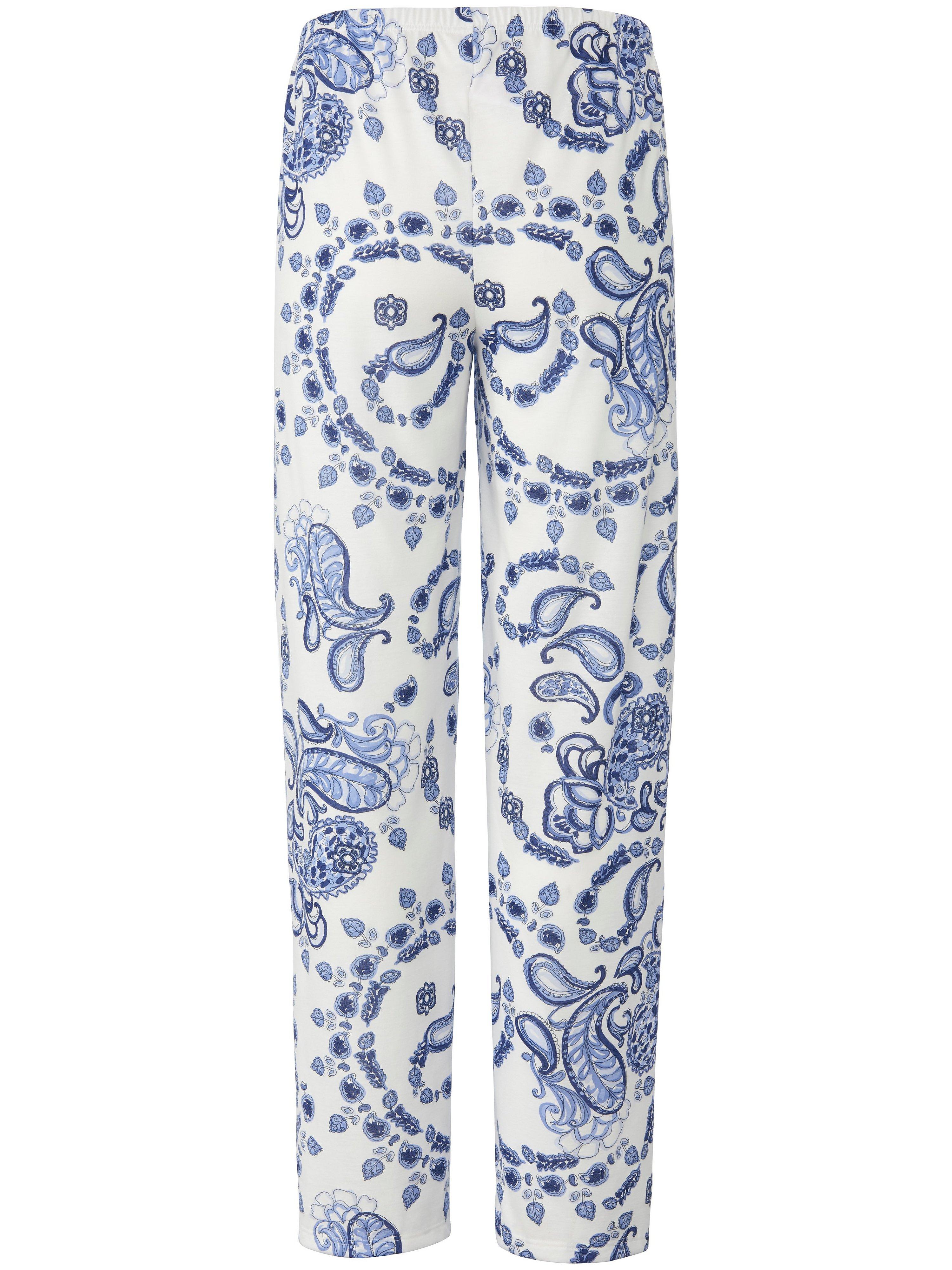 Lang pyjasmasbuk 100 bomuld Fra PETER HAHN PURE EDITION blå