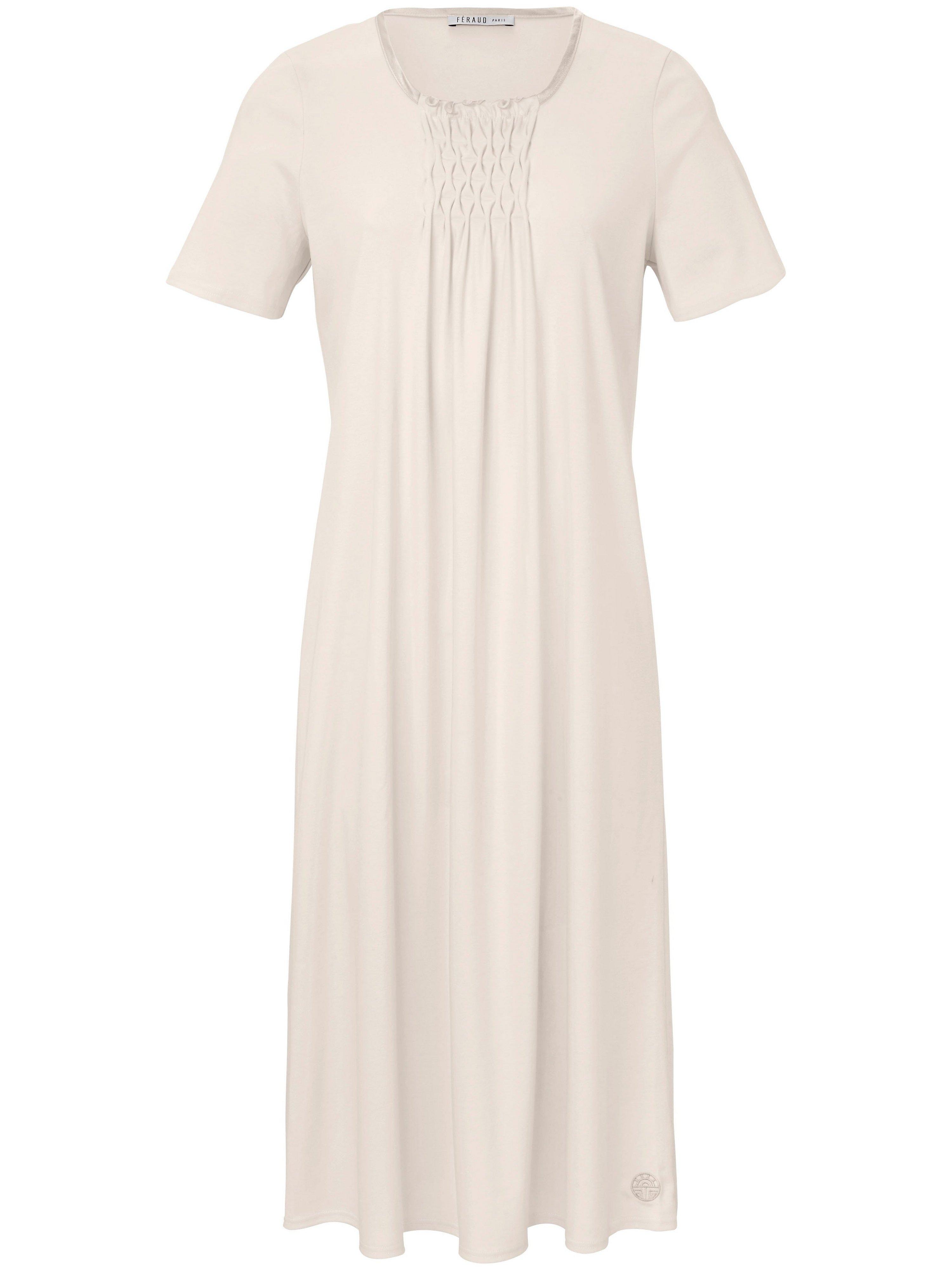 La chemise nuit pur coton, manches courtes  Féraud beige taille 48