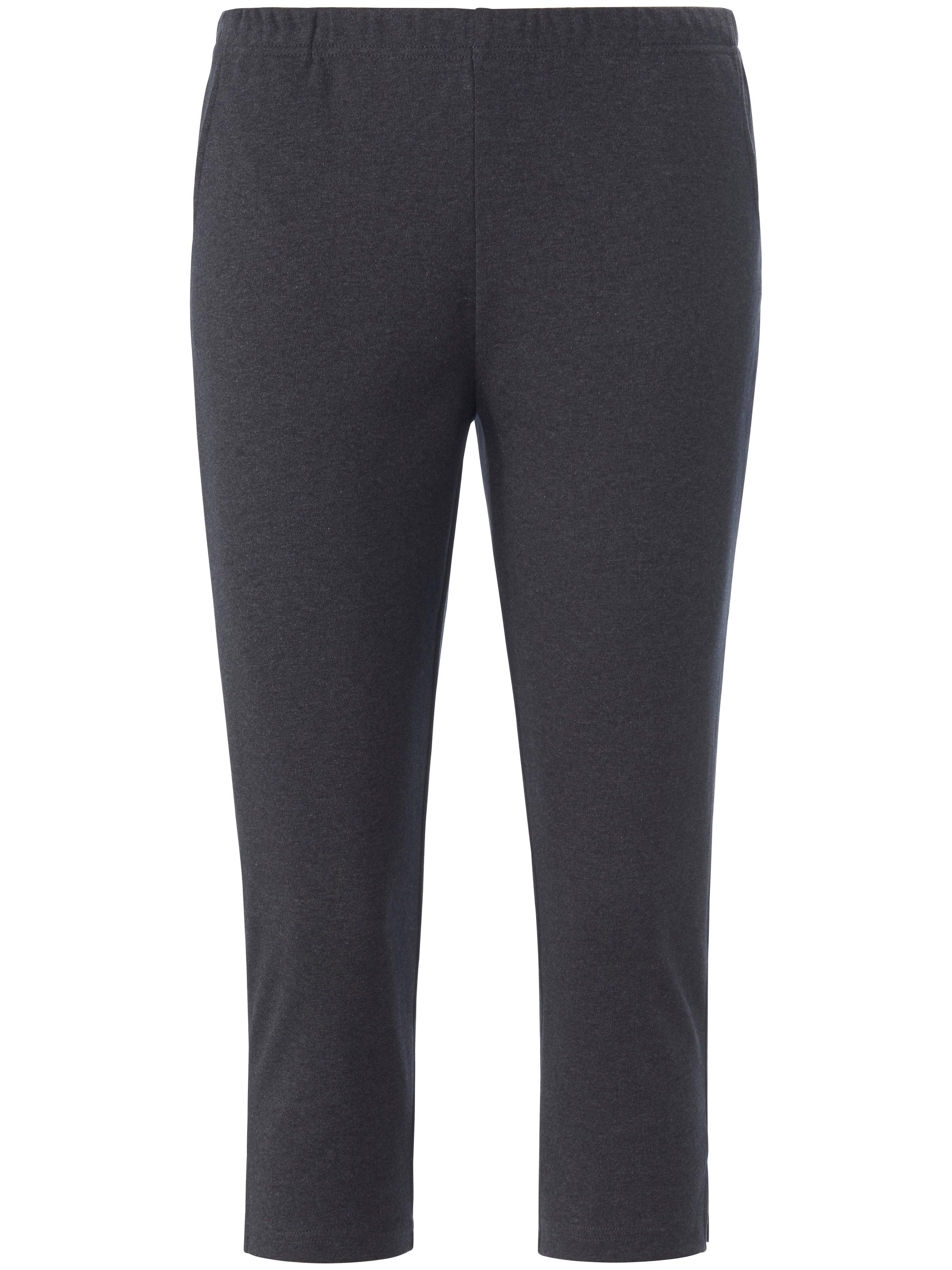 3/4 length trousers elasticated waist Peter Hahn grey