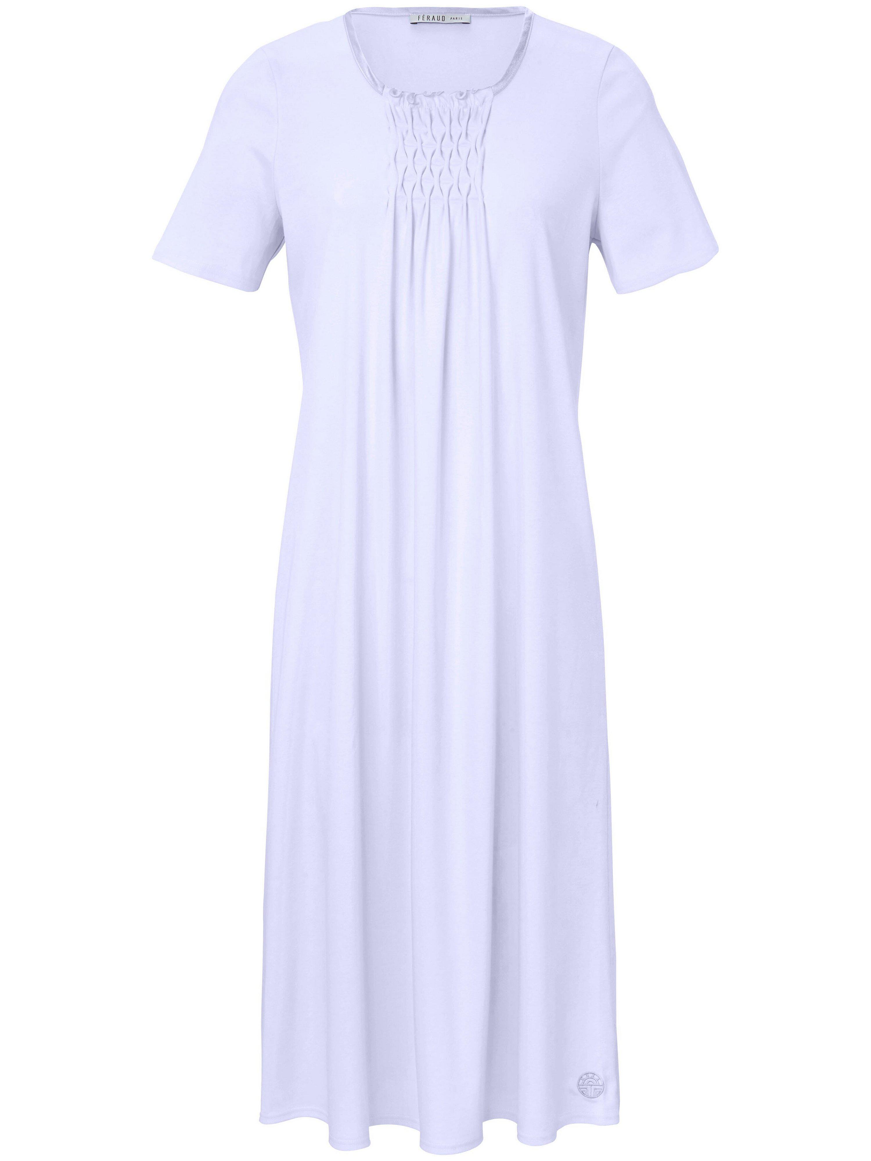 La chemise nuit pur coton, manches courtes  Féraud mauve taille 50