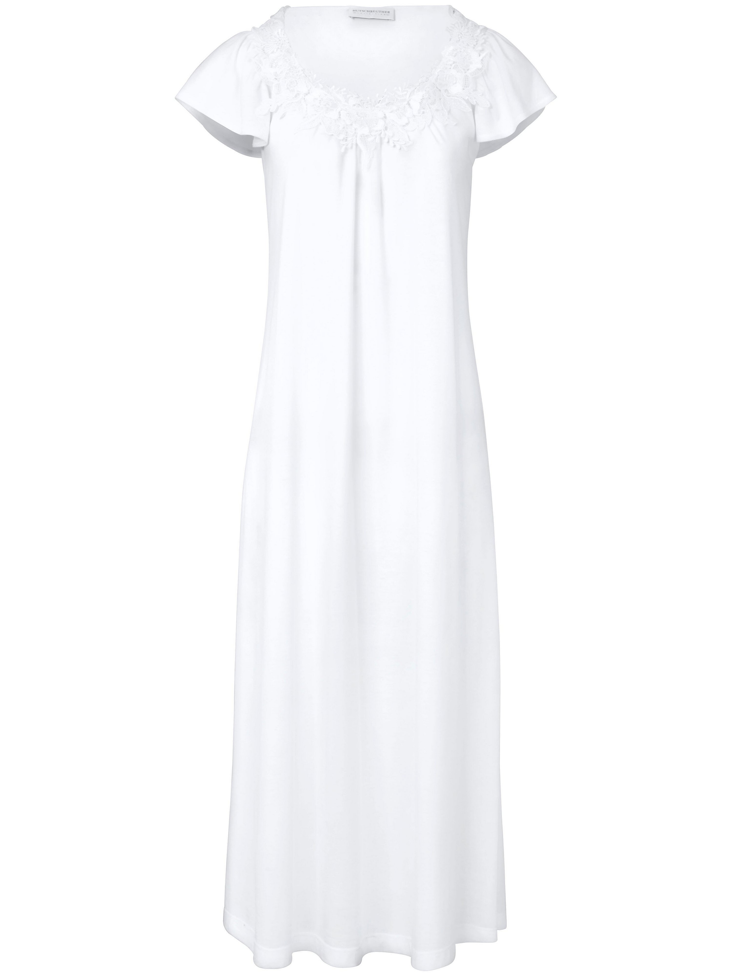 La chemise nuit unie, manches courtes  Hutschreuther blanc taille 46