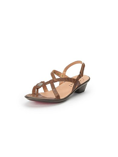 Think! Sandale aus 100% Leder Nussbraun