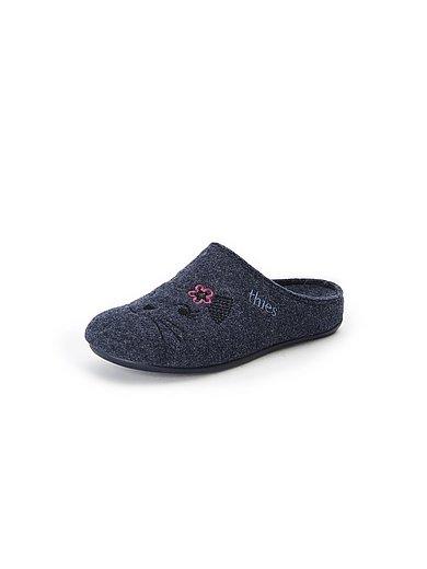 THIES - Pantoffels Fieltro van vilt met poezenmotief