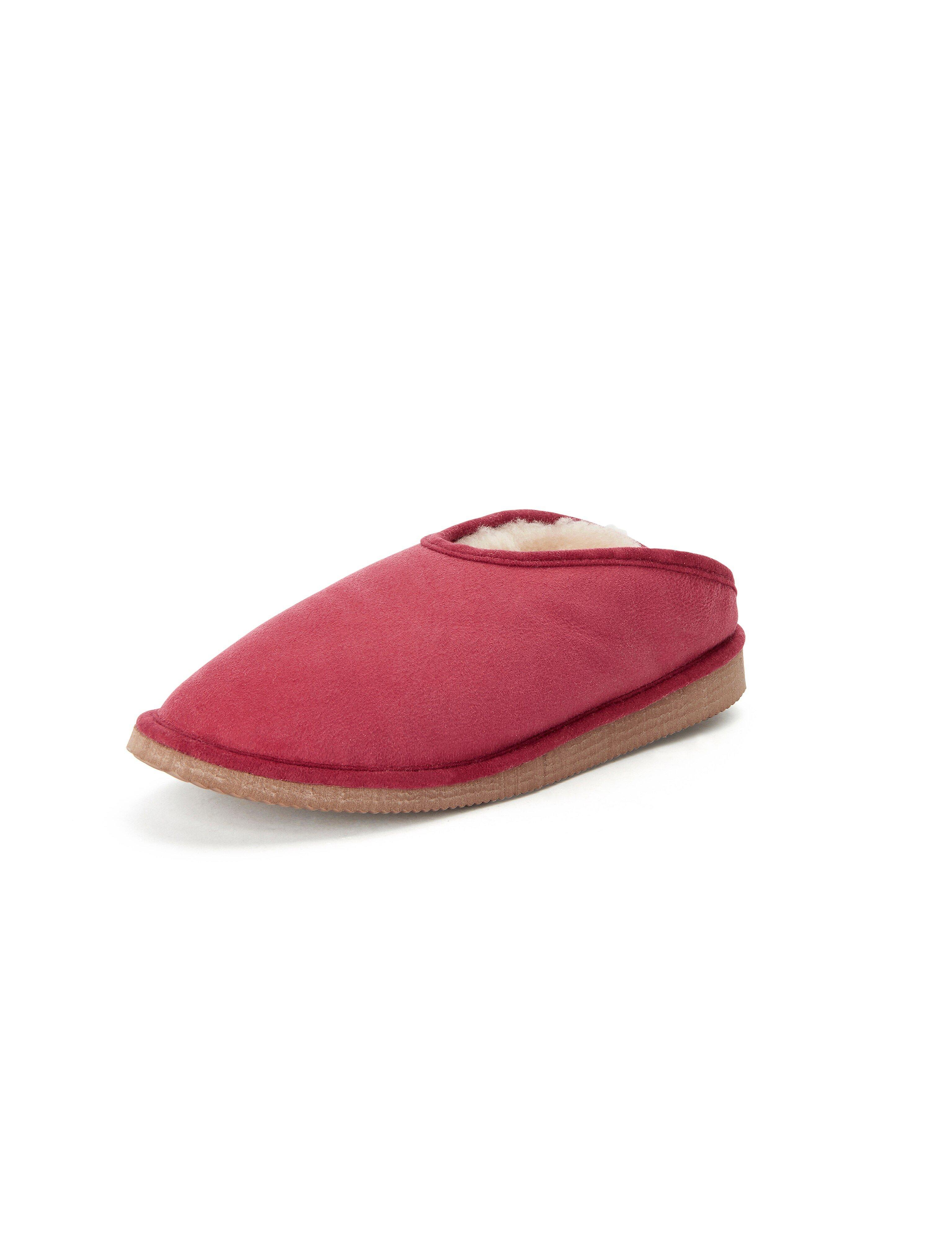 Lammy pantoffels, model Fatima Van Kitzpichler rood