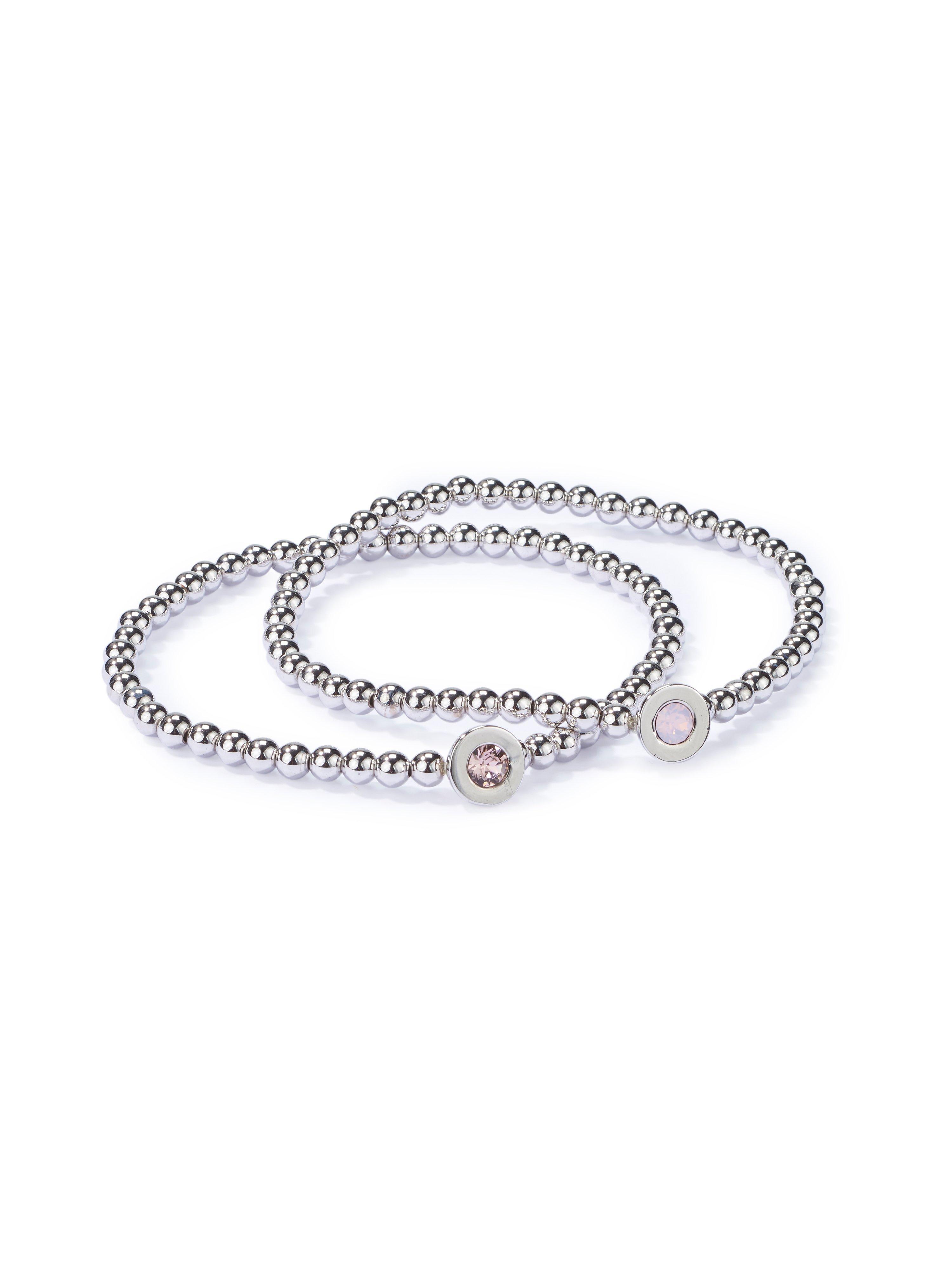 Set of 2 bracelets mayfair by Peter Hahn silver