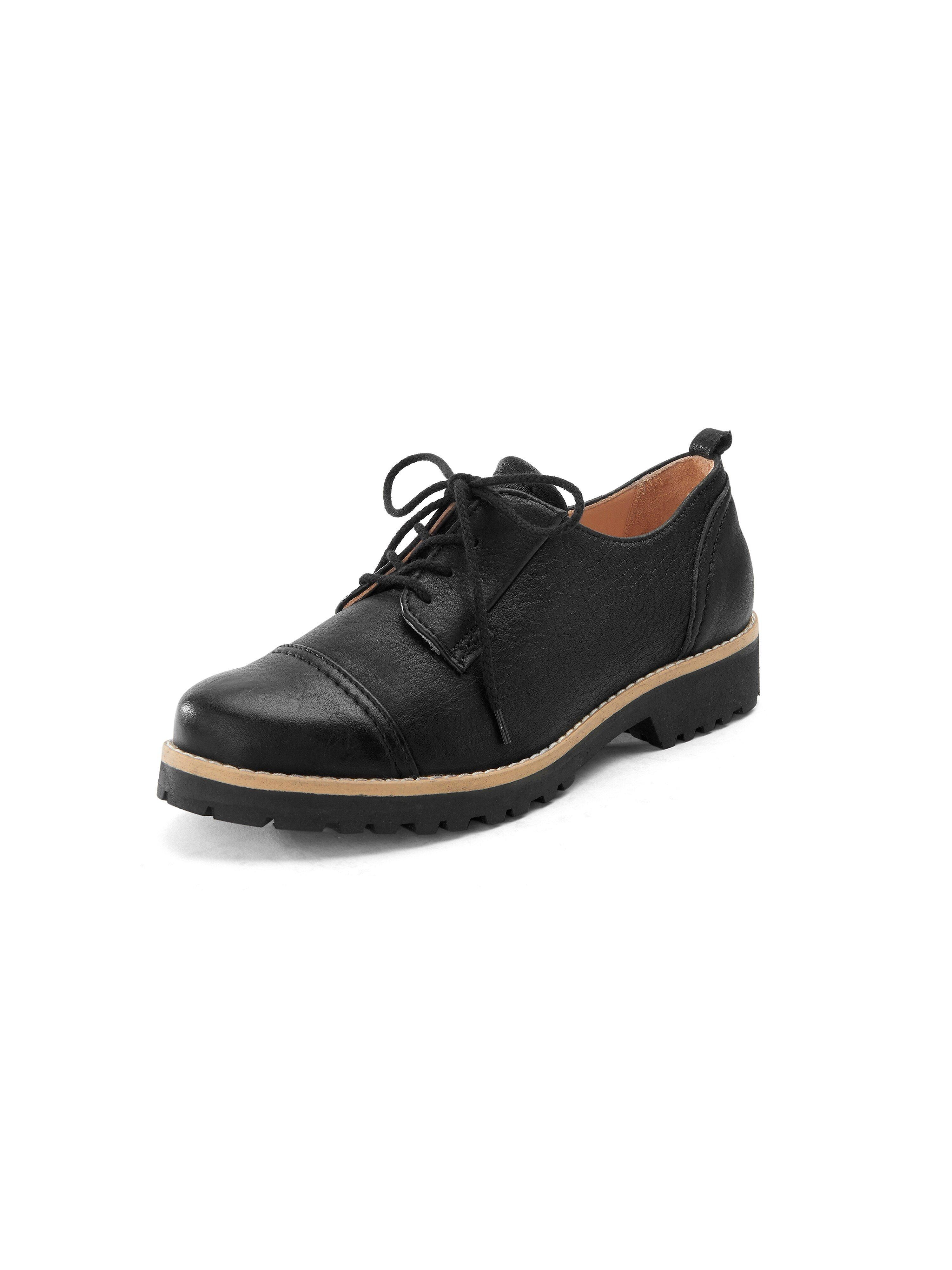 Veterschoenen van 100% leer Van Werner Schuhe zwart