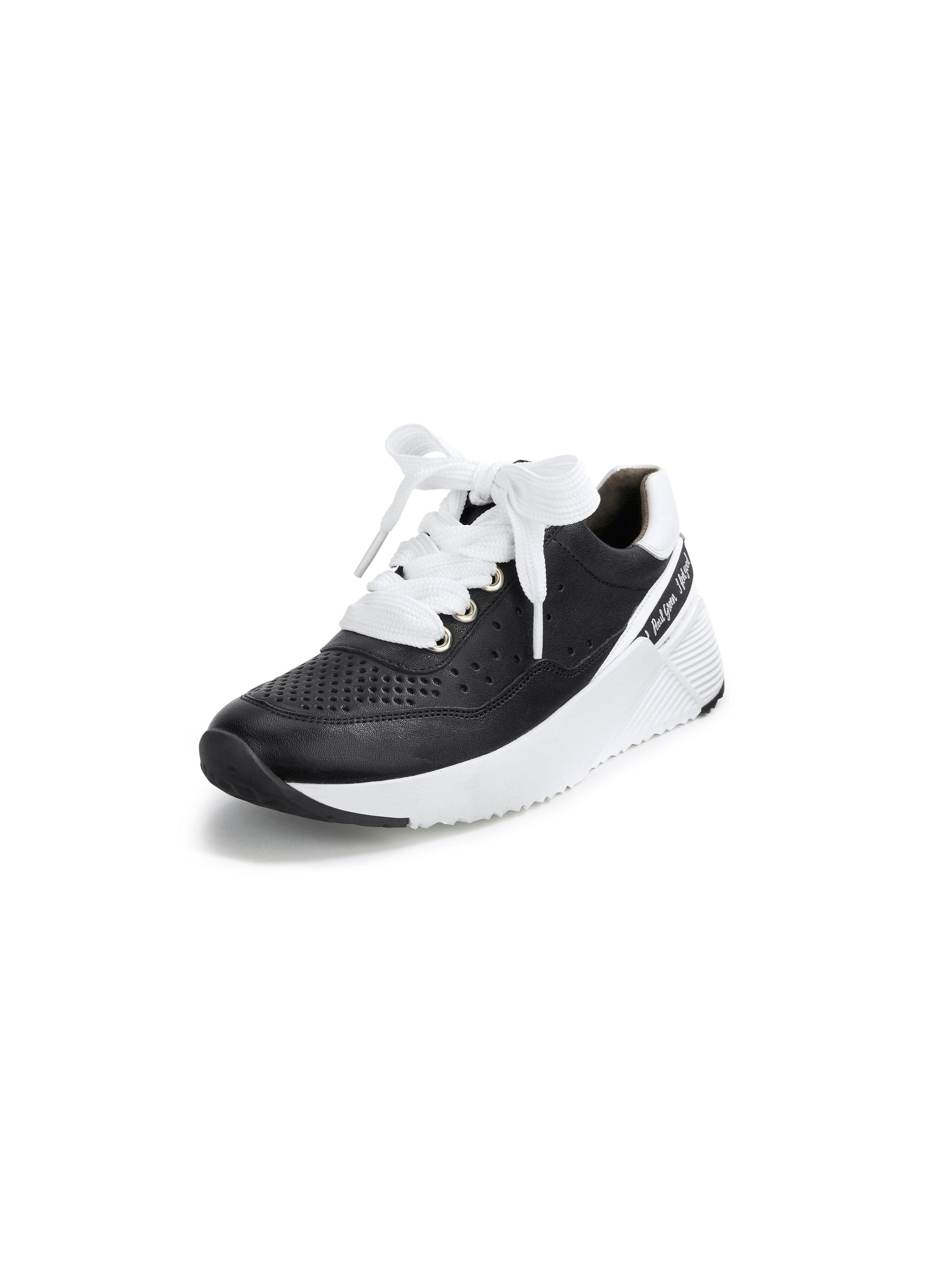 Sneakers met tekst bij de hiel Van Paul Green zwart