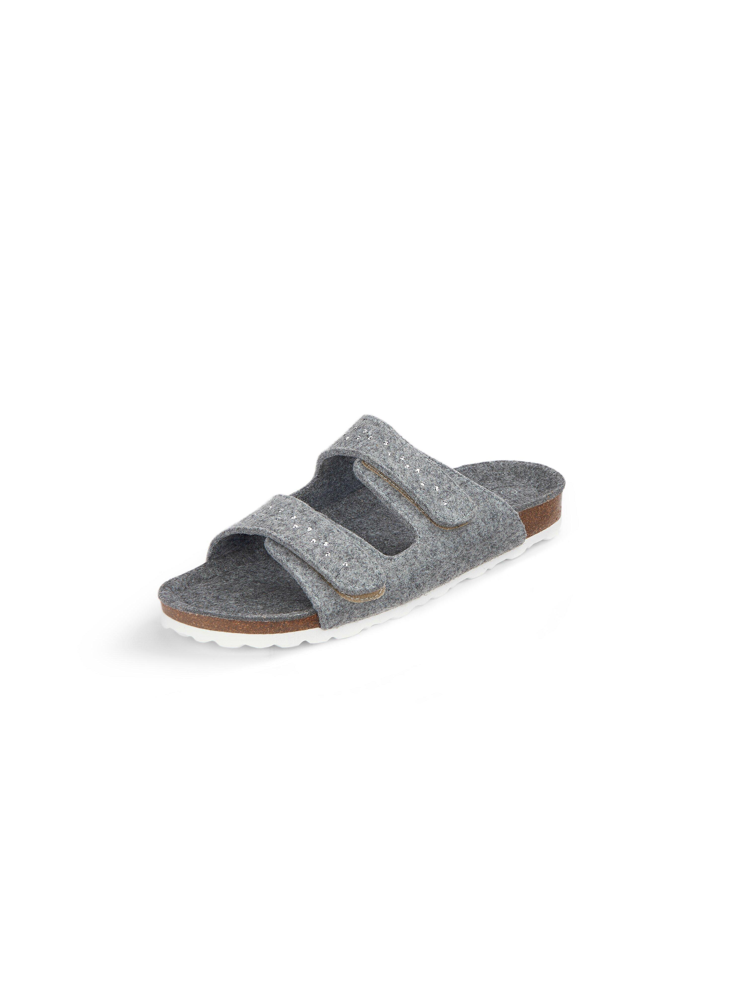 Slippers model Fieltro Van THIES grijs
