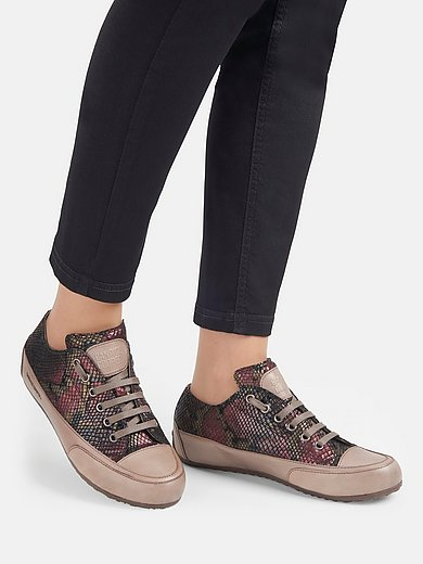 Candice Cooper - Sneakers Rock van geitenleer met folieprint