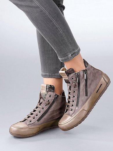 Candice Cooper - Enkelhoge sneakers Lucia Zip van geitensuèdeleer