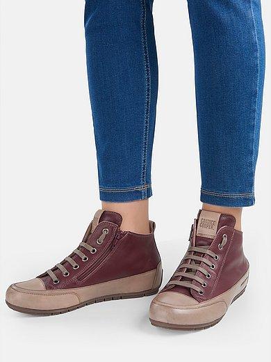 Candice Cooper - Enkelhoge sneakers Mid Zip van kalfsnappaleer