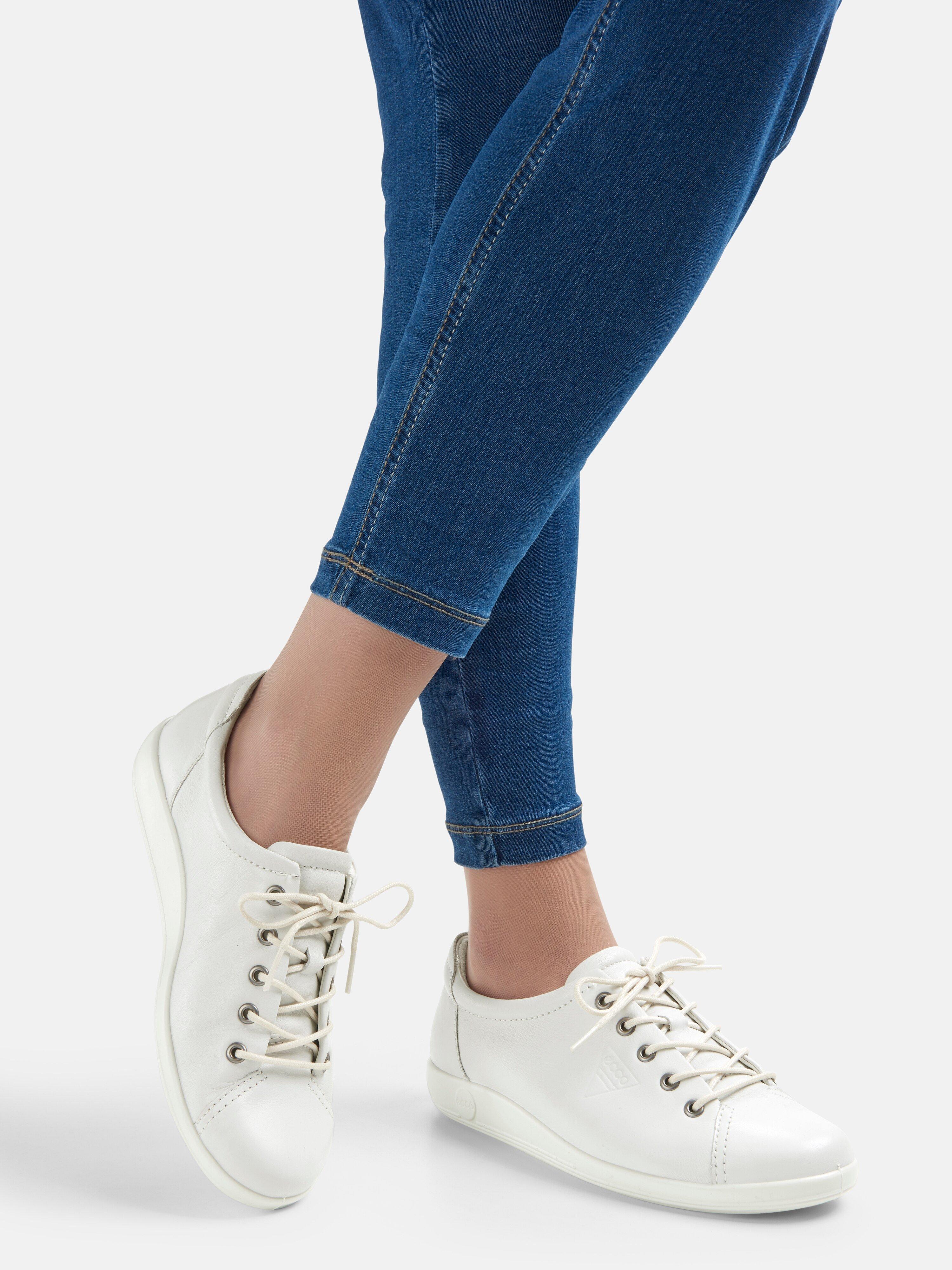 white ecco sneakers