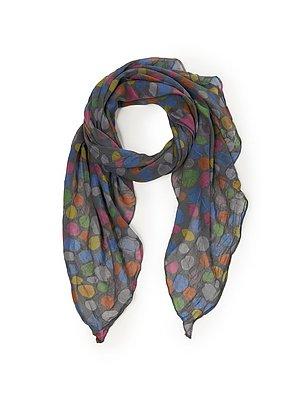 Sjaal met stippendessin Van Peter Hahn multicolour
