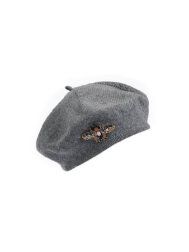 Peter Hahn Cashmere - Basken-Mütze aus 100% PREMIUM Kaschmir