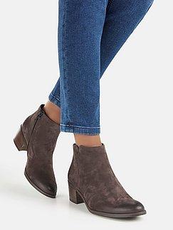 Strenesse Blue Leder Stiefel Stiefeletten Ankle Boots braun 38