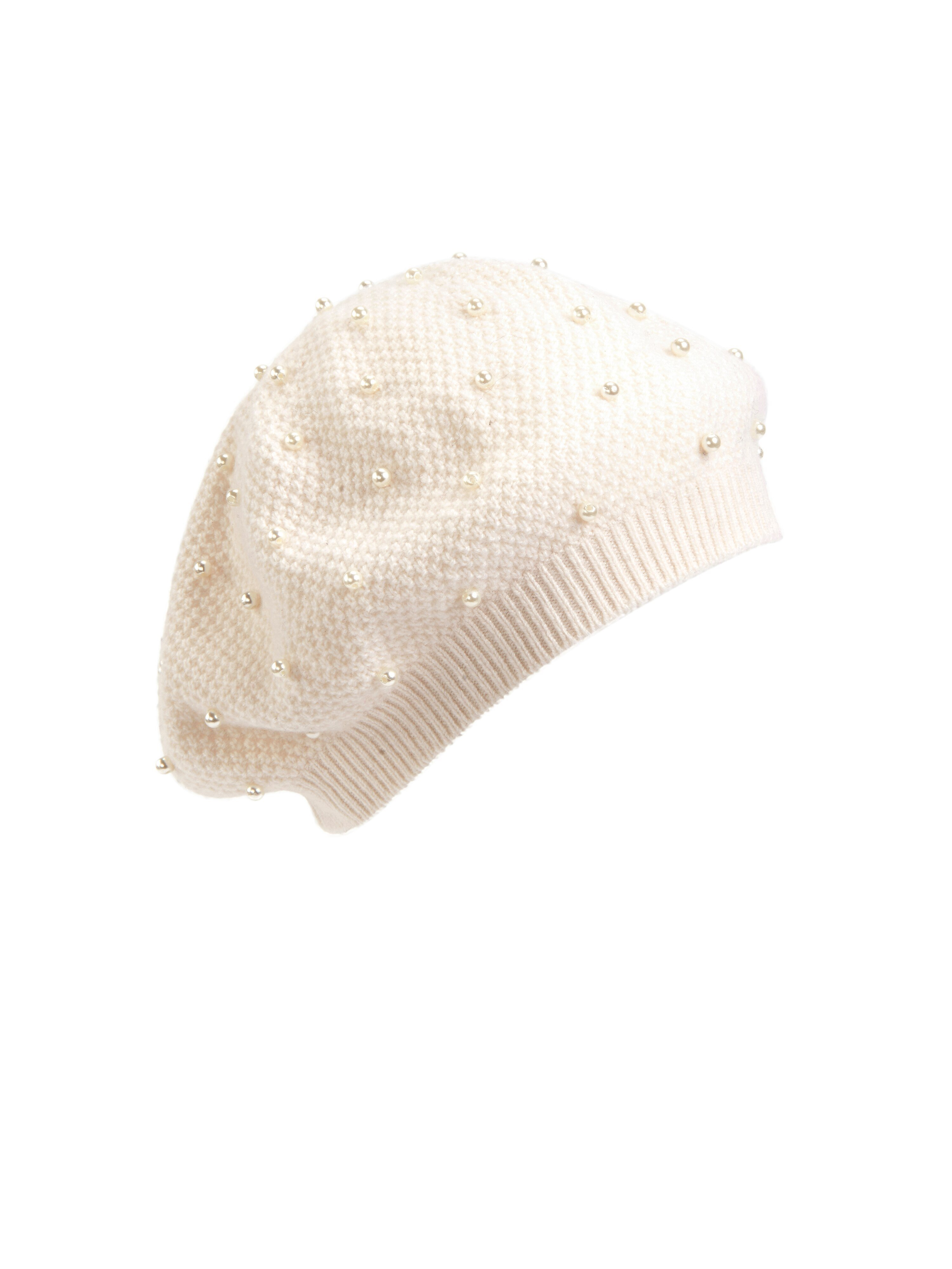 peter hahn cashmere - Baskenmütze in 100% Kaschmir  beige