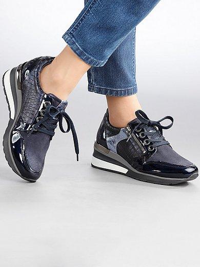 Softwaves - Sneakers van geitennappaleer met lakleer