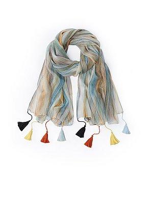 Sjaal met strepen Van Peter Hahn multicolour