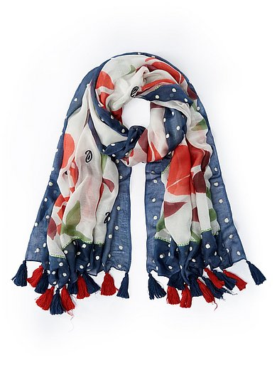 Peter Hahn - Sjaal met bloemen- en stippenprint