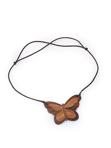 Peter Hahn - Halsband med en fjäril av trä