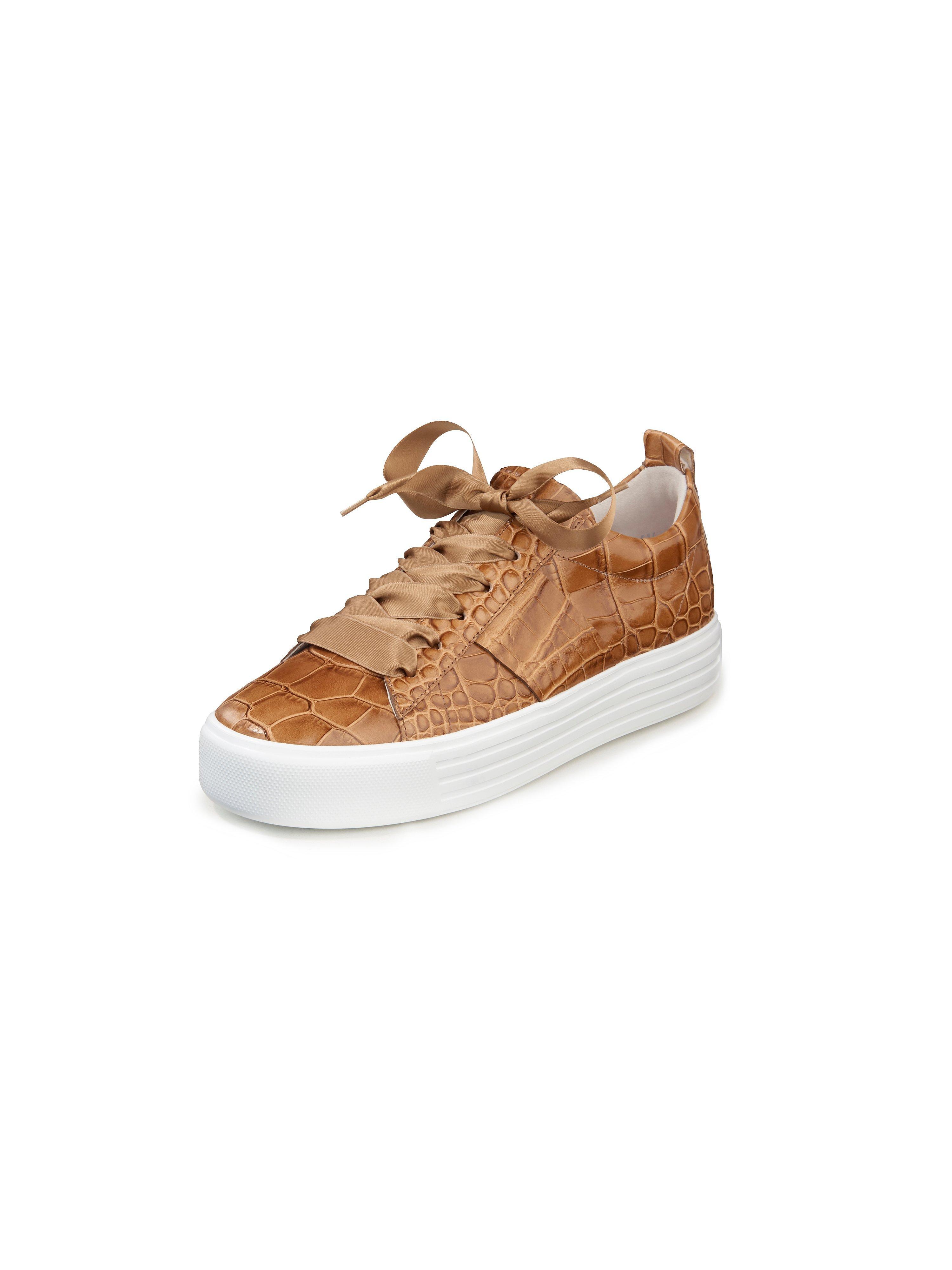 Sneakers Up van kalfsnappaleer Van Kennel & Schmenger bruin