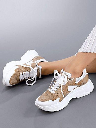 Kennel & Schmenger - Sneakers 'Cloud' van geitensuède- & kalfsnappaleer