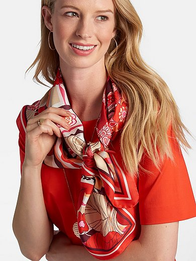 Basler - Sjaaltje van 100% zijde met bloemenprint
