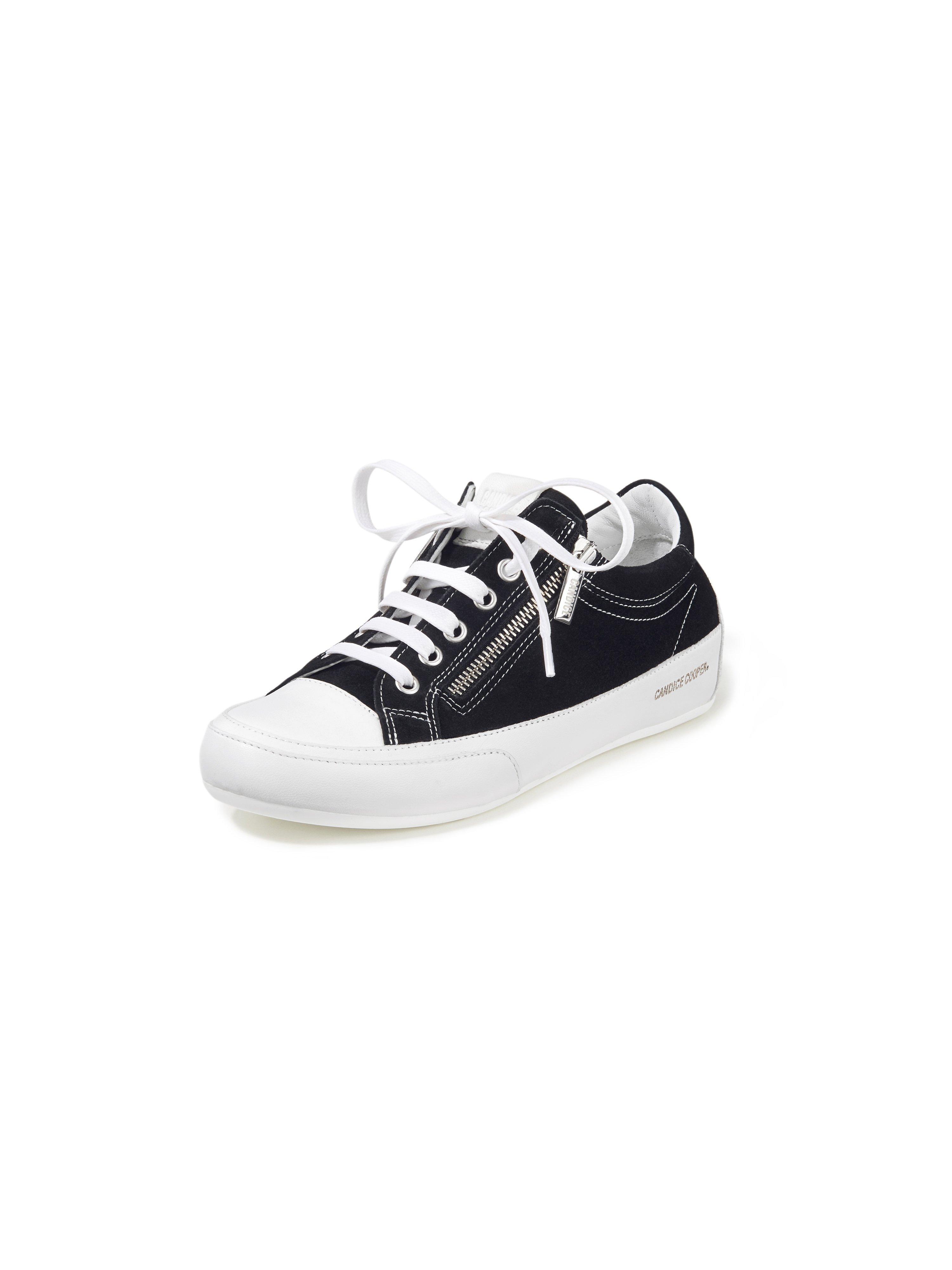 Sneakers Deluxe Zip van geitensuèdeleer Van Candice Cooper zwart