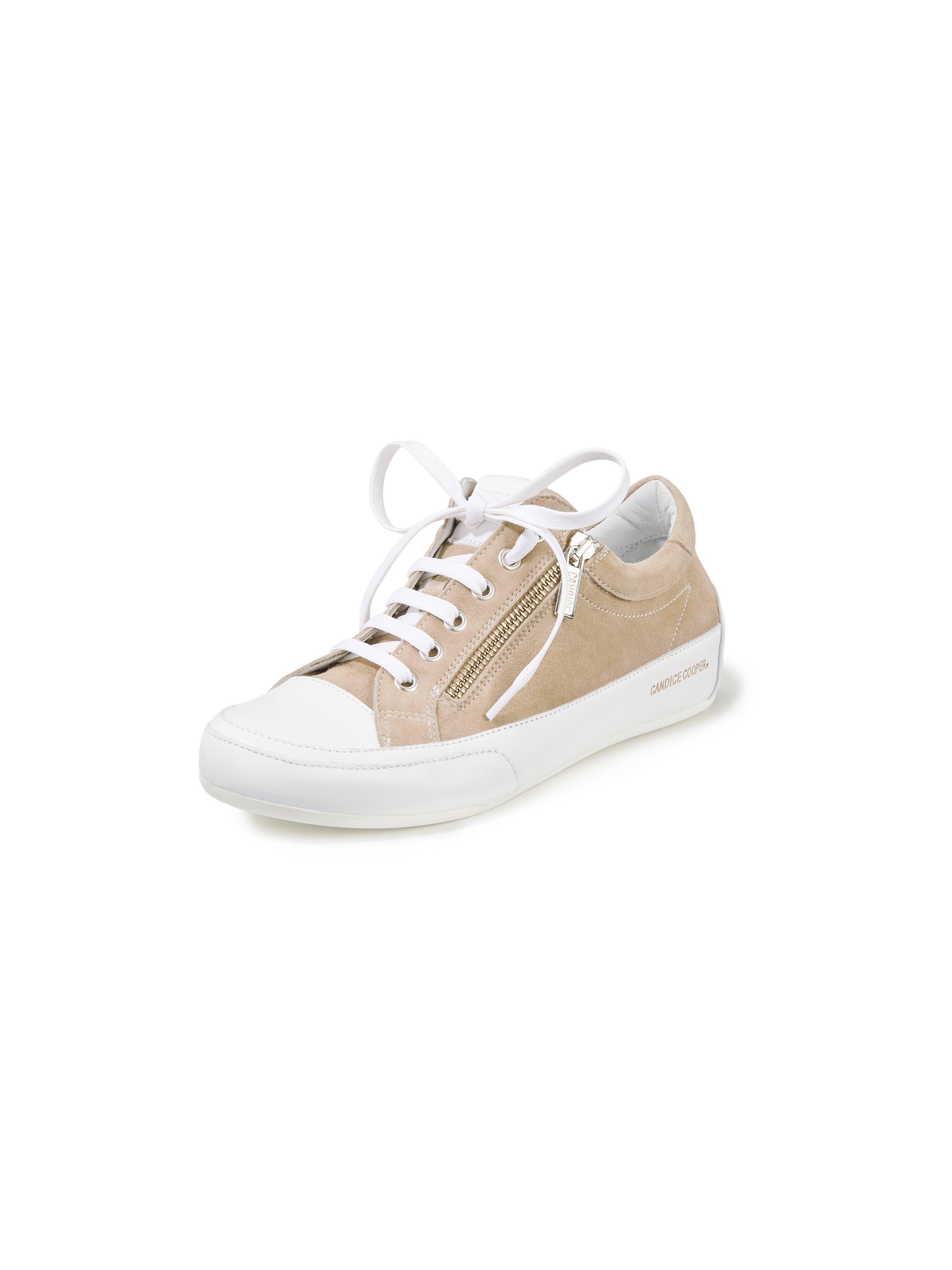 Sneakers Deluxe Zip van geitensuèdeleer Van Candice Cooper beige