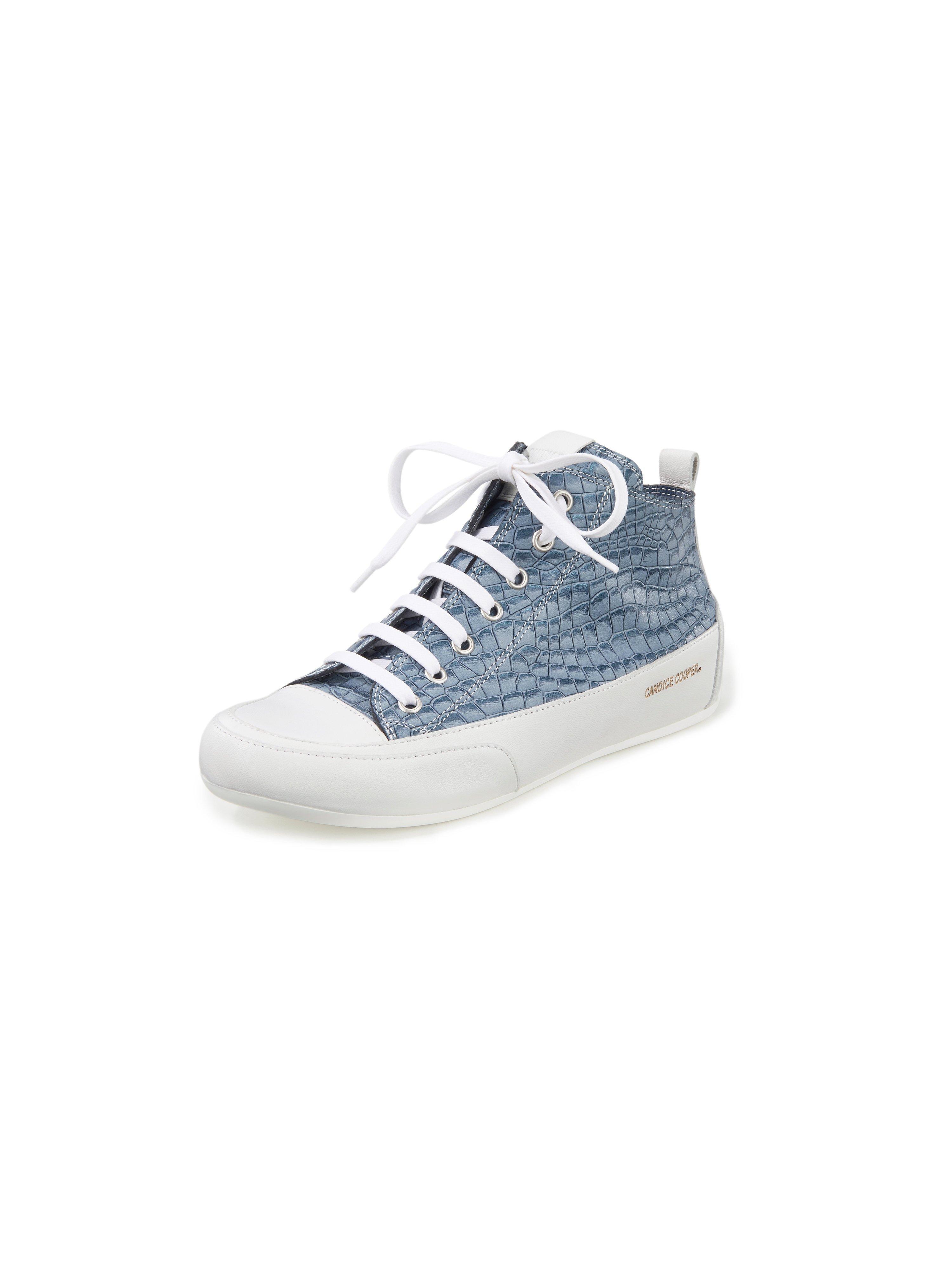Sneakers Mid van kalfsnappaleer Van Candice Cooper blauw