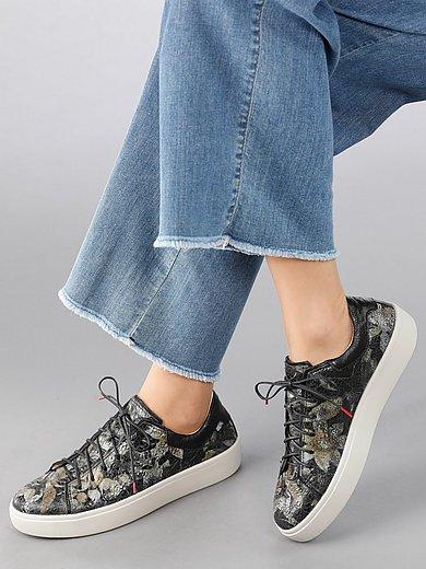 Think! - Sneakers Gring van lamsnappaleer met bloemdessin