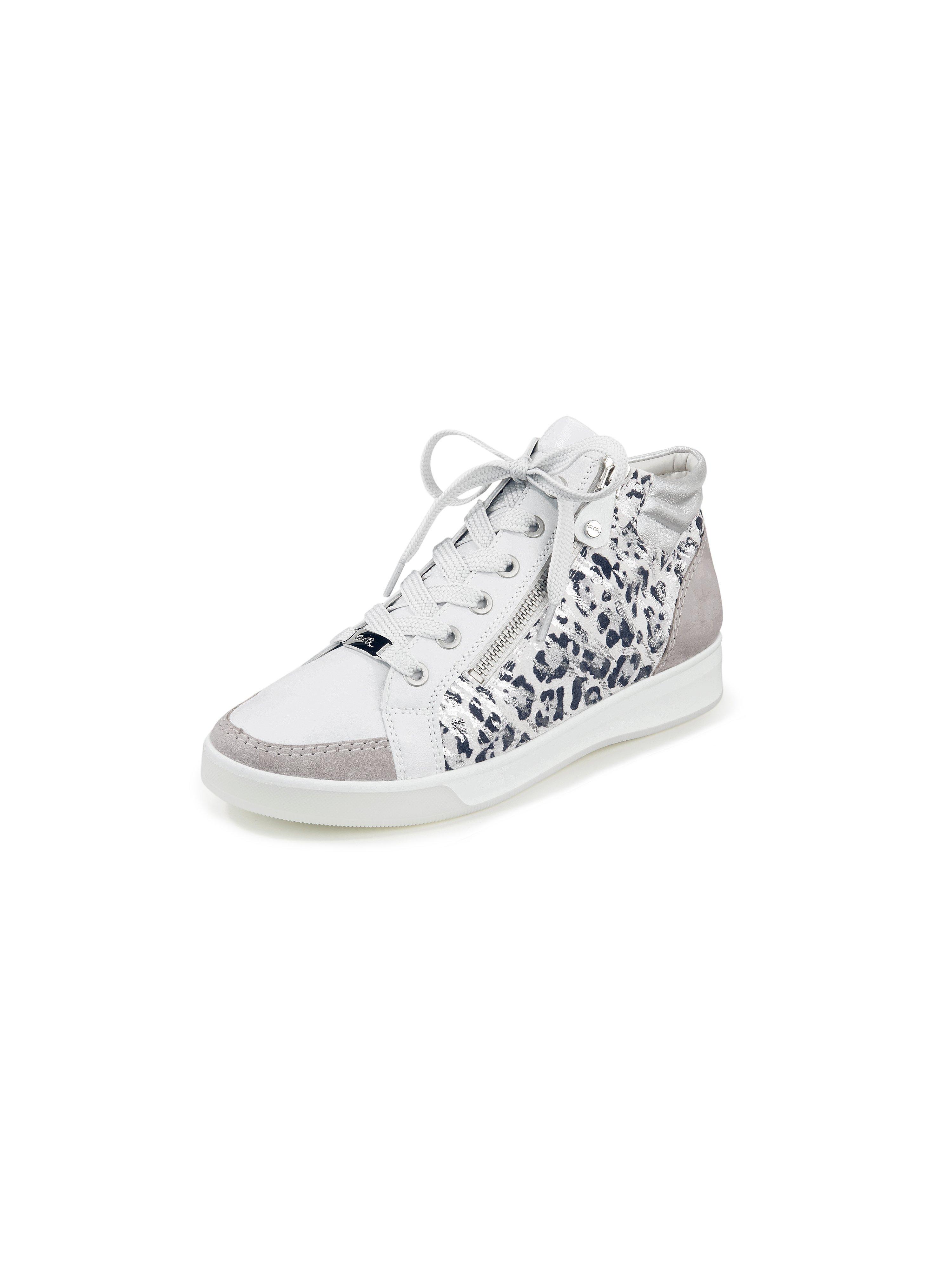 Sneakers van kalfsnappa- en geitensuèdeleer Van ARA beige