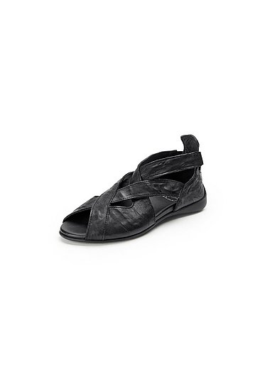 Think! Sandale Jeah aus 100% Leder Schwarz