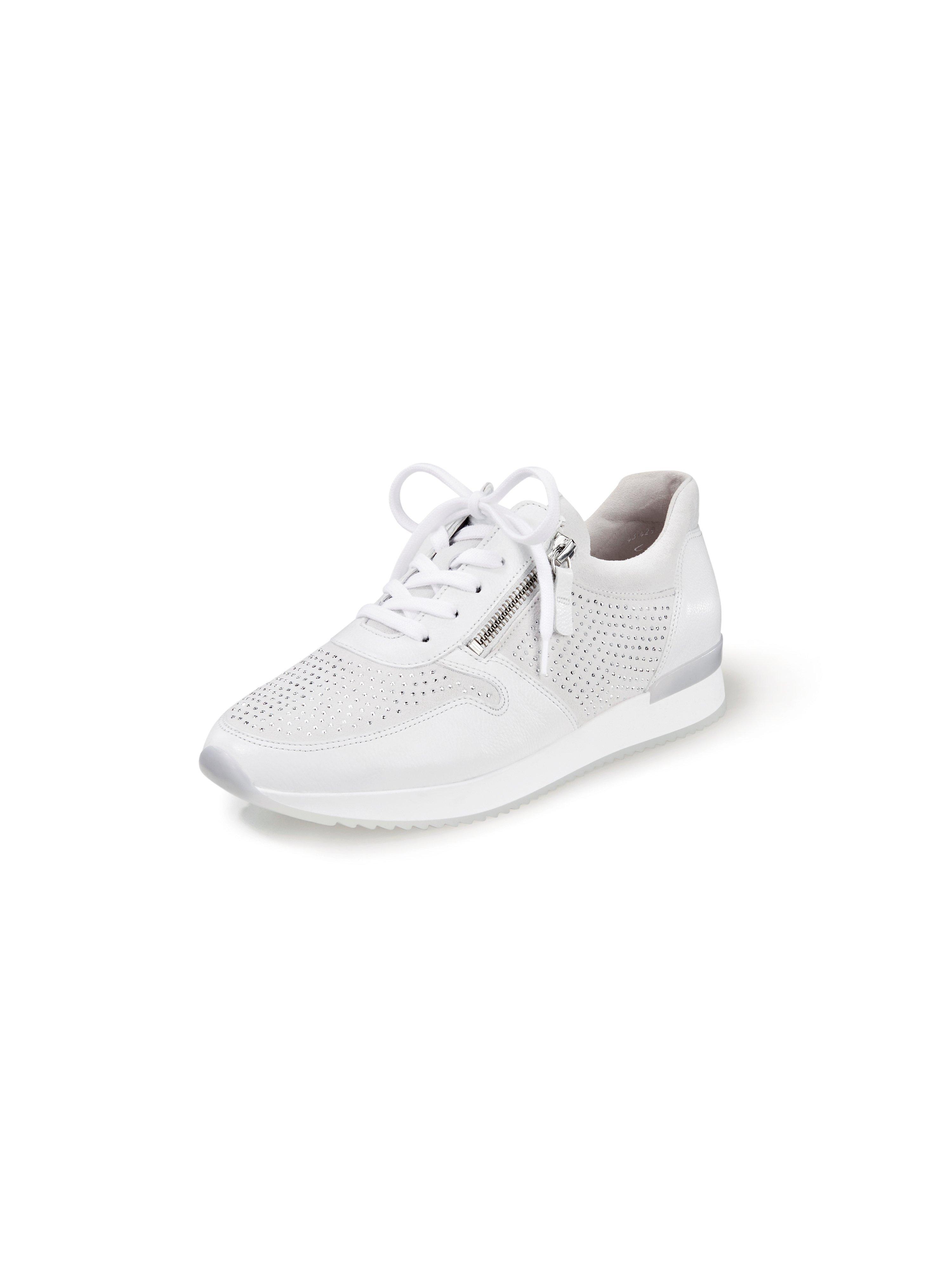 Sneakers van geitensuèdeleer met Best fitting Van Gabor wit