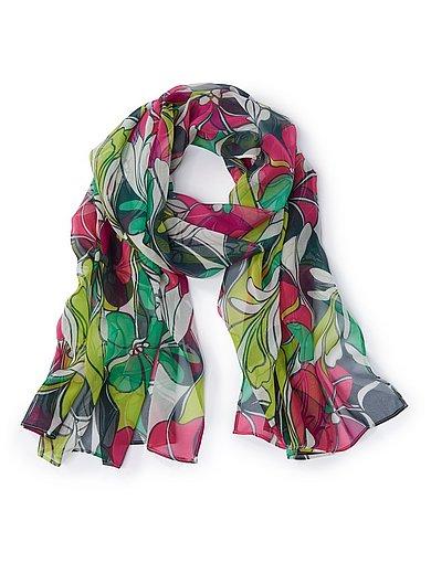 Uta Raasch - Scarf med blommönster i 100% silke