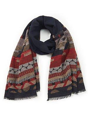 Sjaal met geometrisch motief Van Peter Hahn multicolour