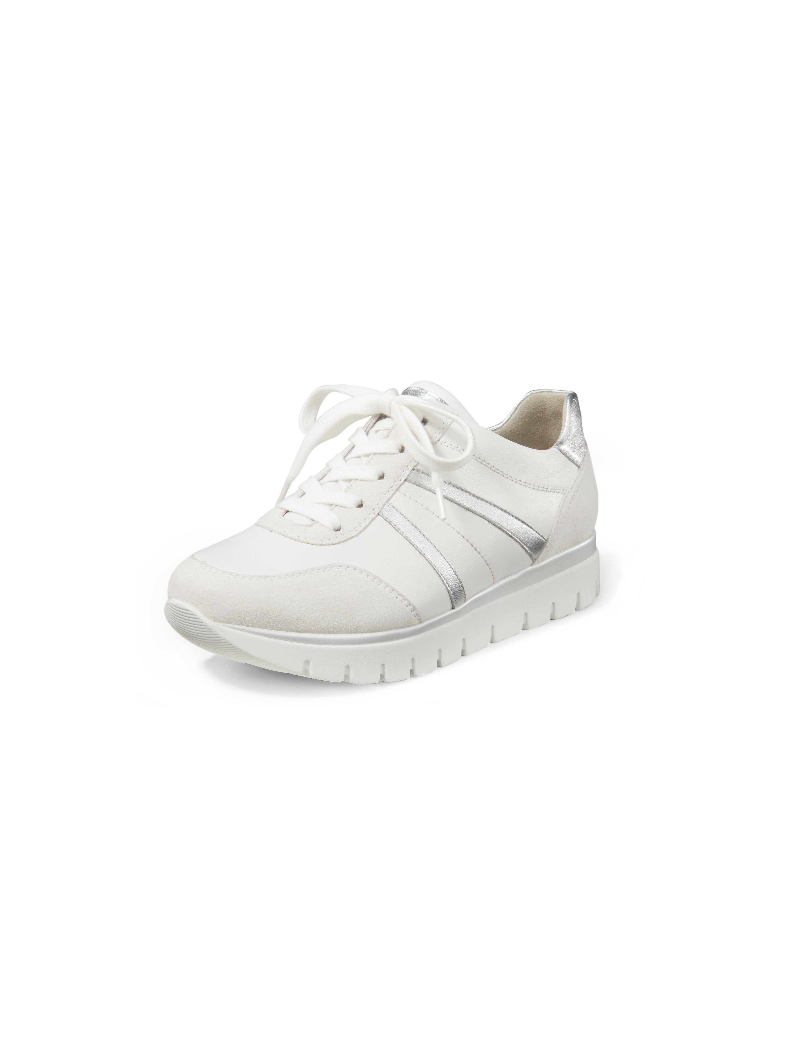 Calf nappa leather and kidskin suede sneakers Semler white
