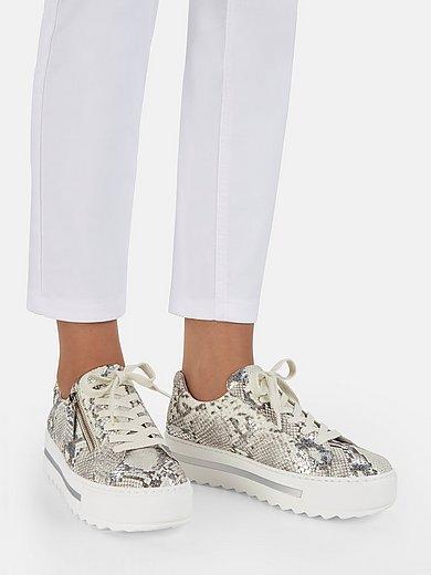 Gabor Comfort - Sneakers van geitensuèdeleer met slangendessin