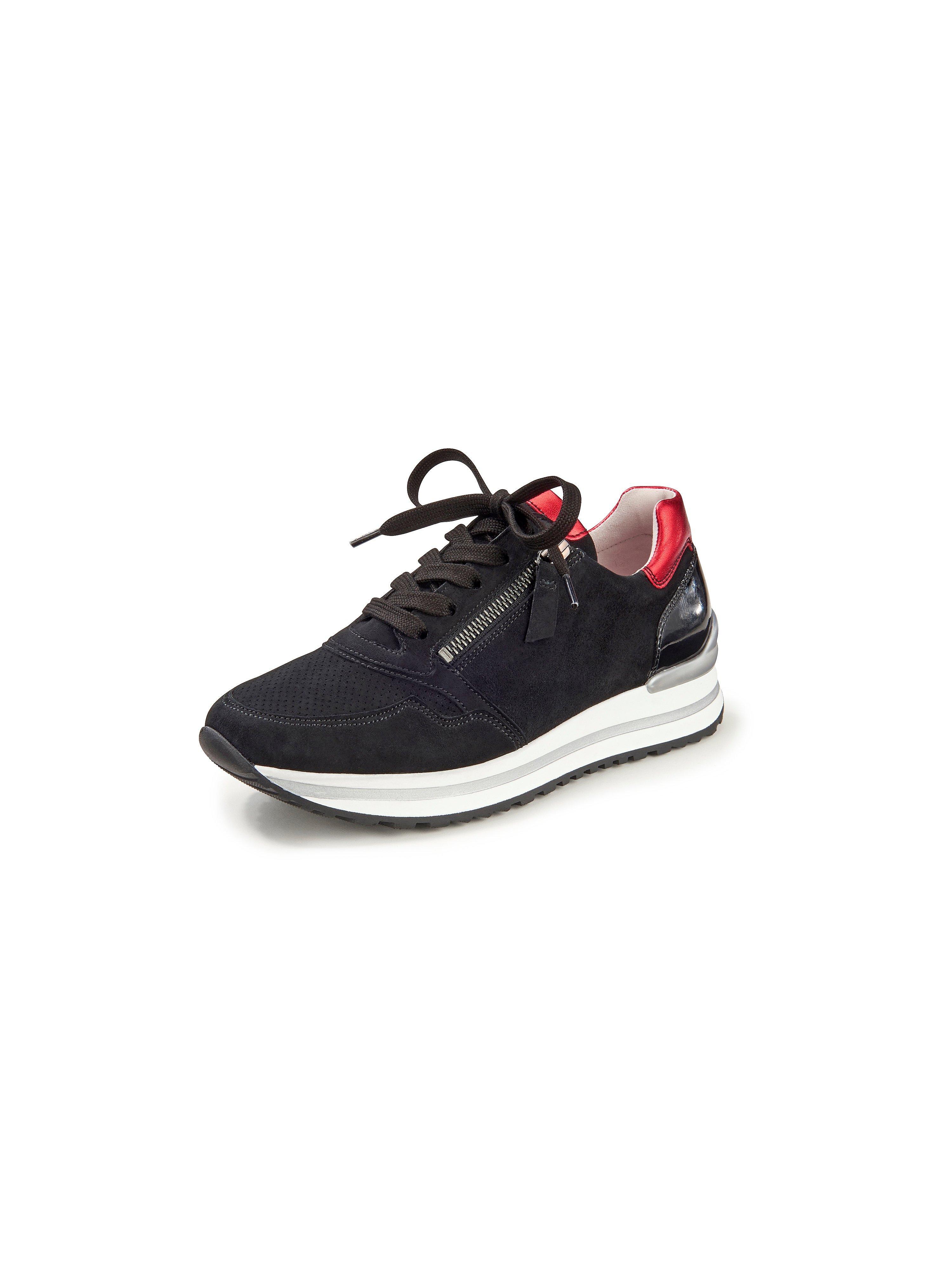Soft kidskin suede sneakers Gabor Comfort black