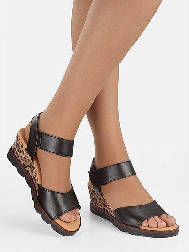 Sandaletter med kilklack och leopardprint