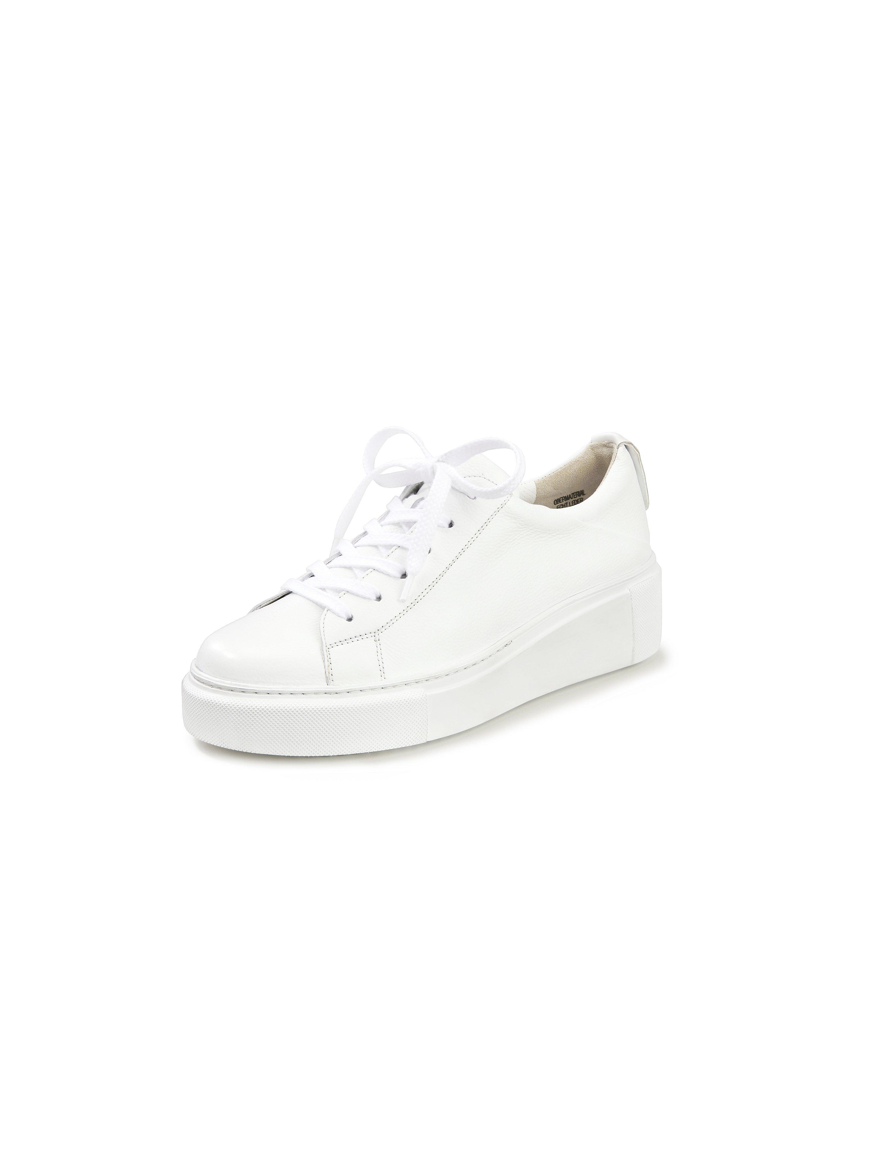 Plateau-sneakers van rundnappaleer Van Paul Green wit