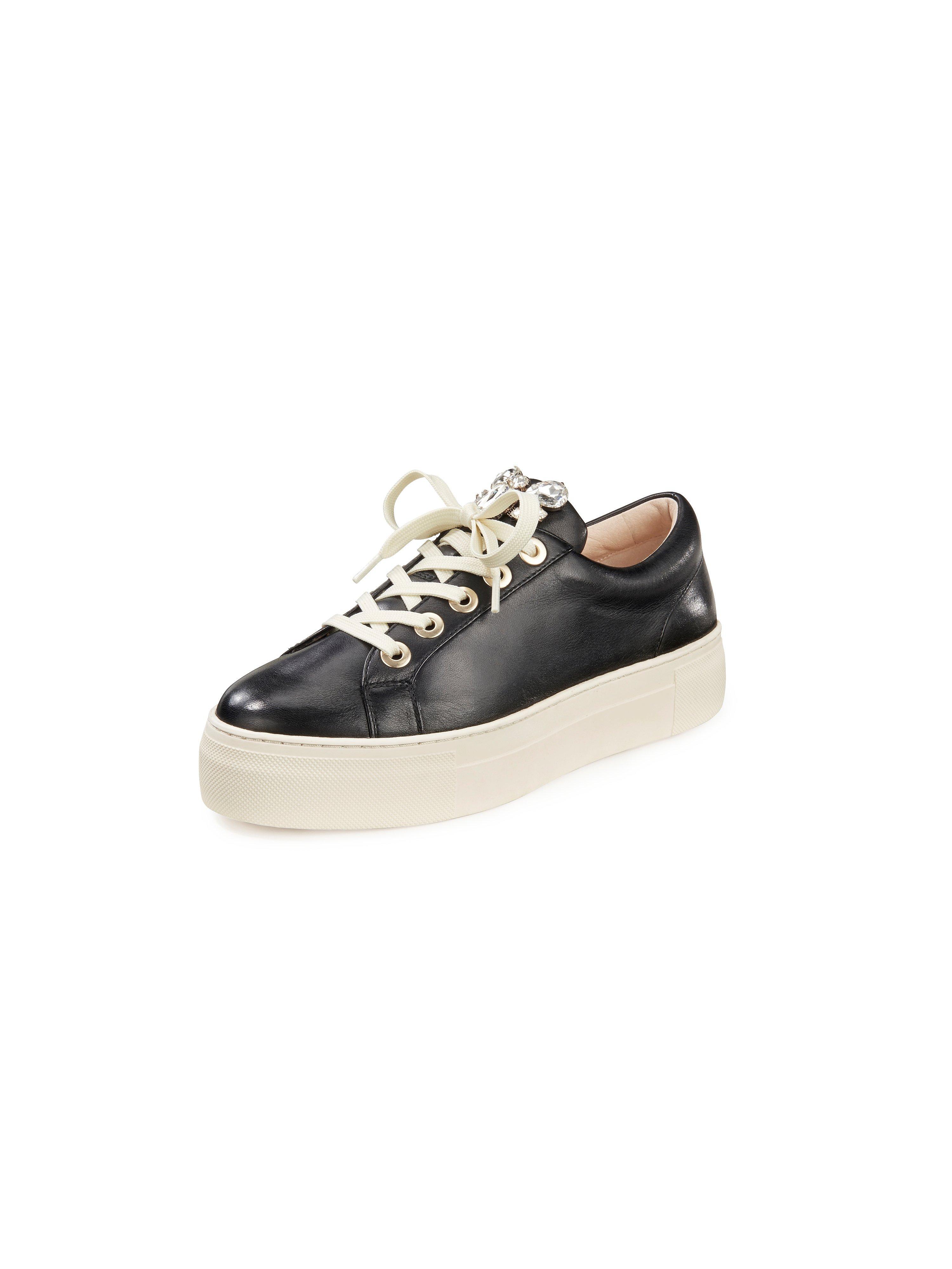 Sneakers van schaapsnappaleer Van Tizian zwart