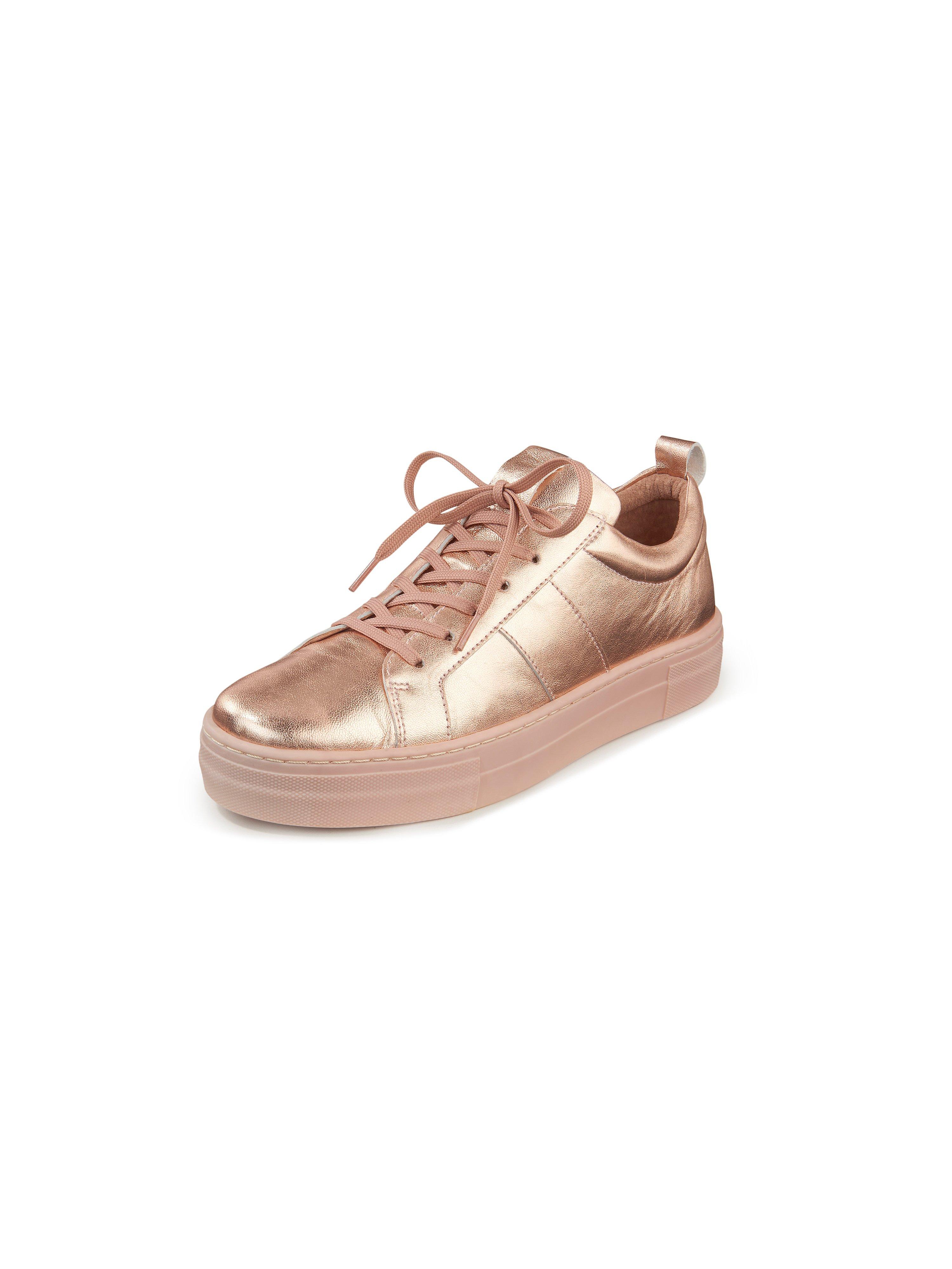 Sneakers van geitennappaleer Van Peter Hahn lichtroze