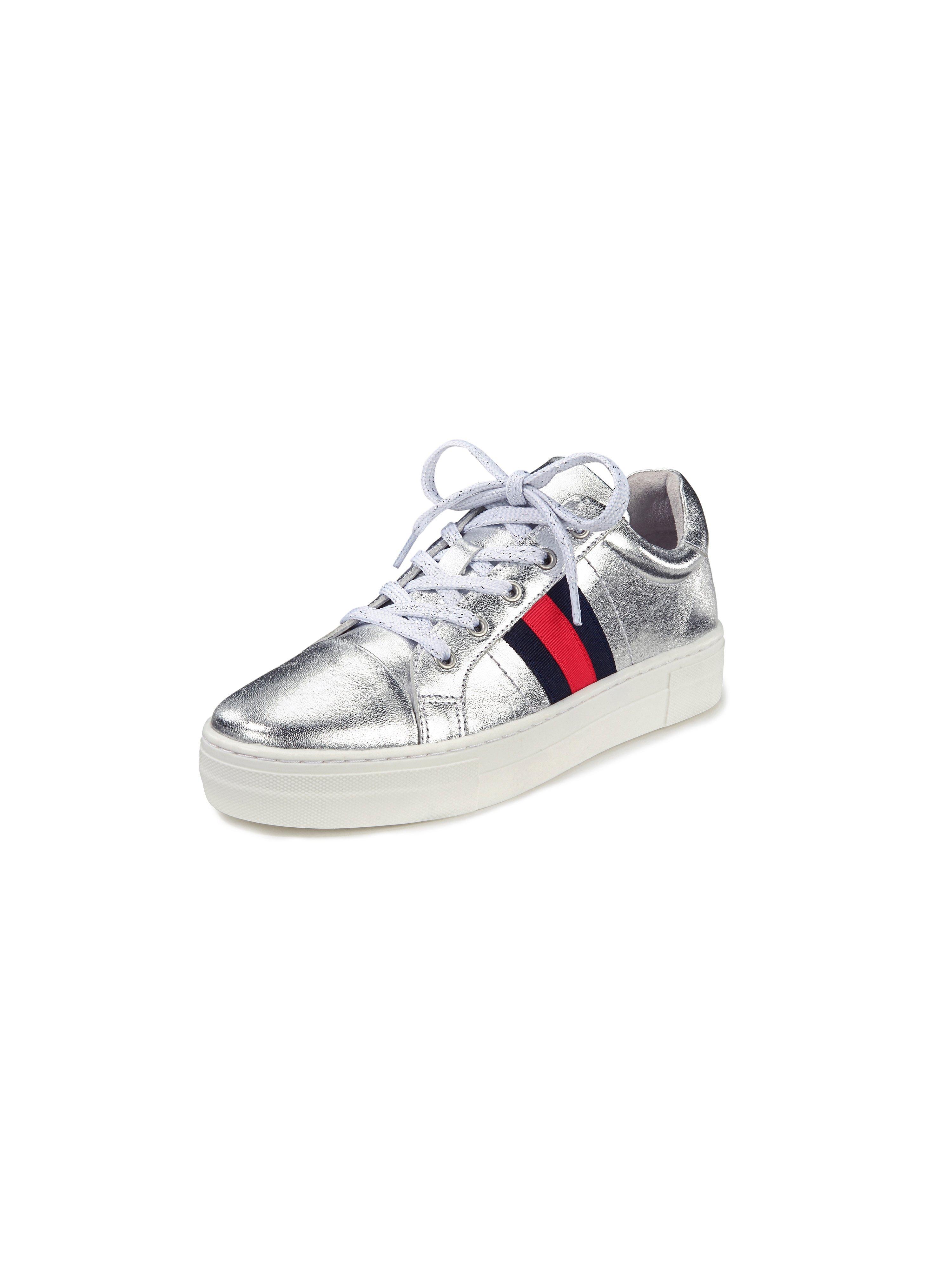 Sneakers van leer Van Peter Hahn zilverkleur