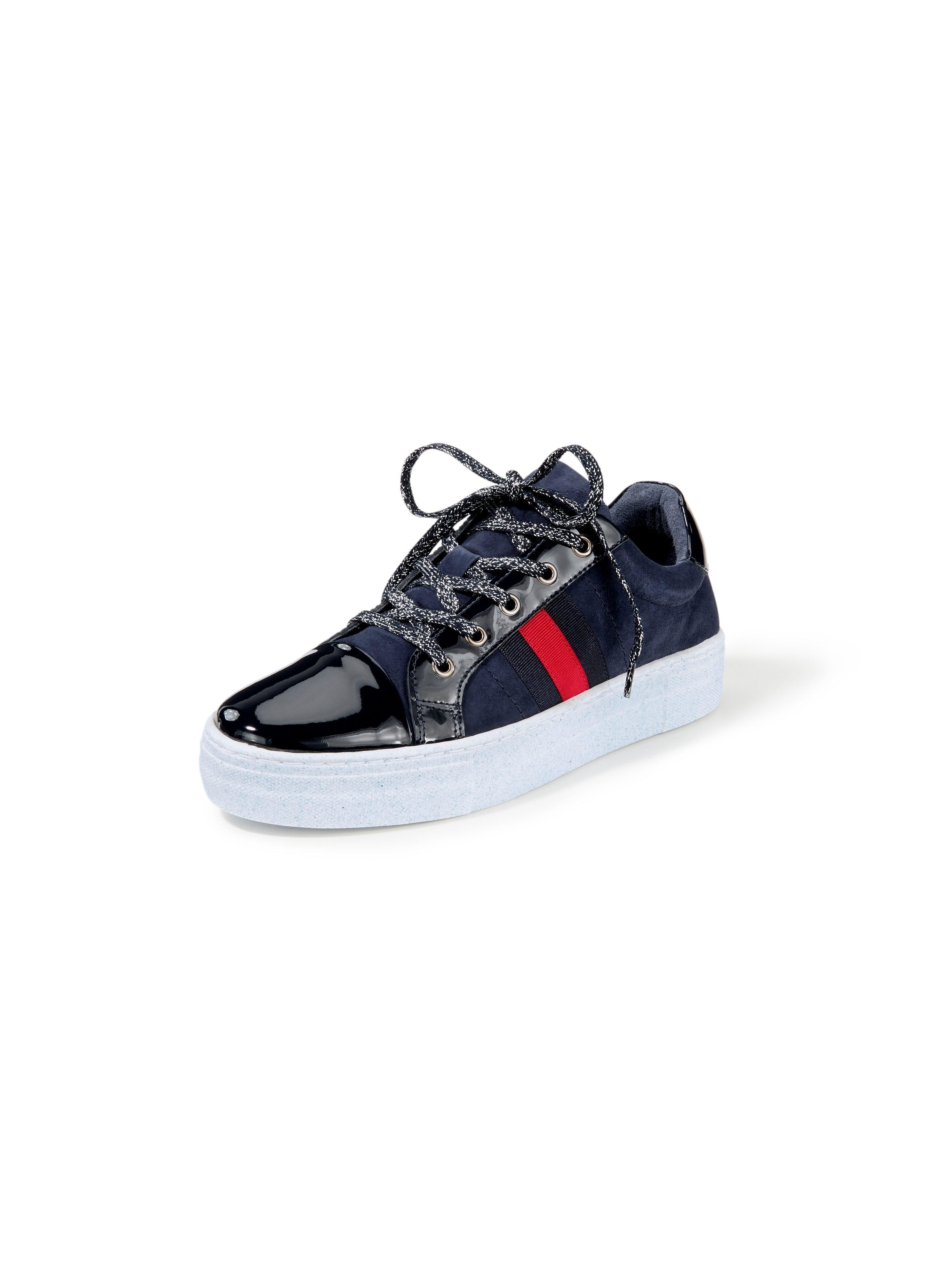 Sneakers van leer Van Peter Hahn blauw